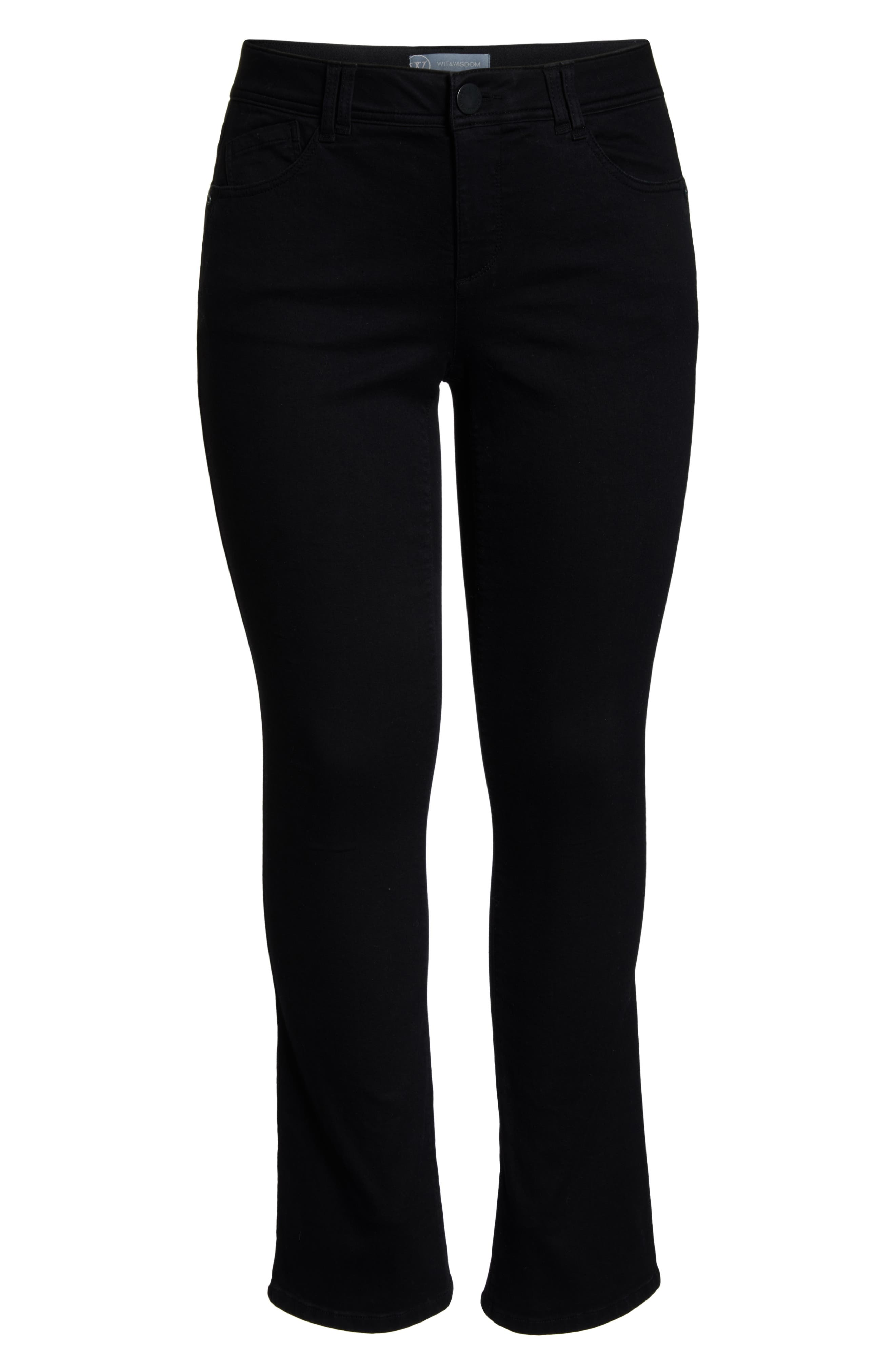 WIT & WISDOM, Ab-solution Itty Bitty Bootcut Jeans, Alternate thumbnail 7, color, BLACK