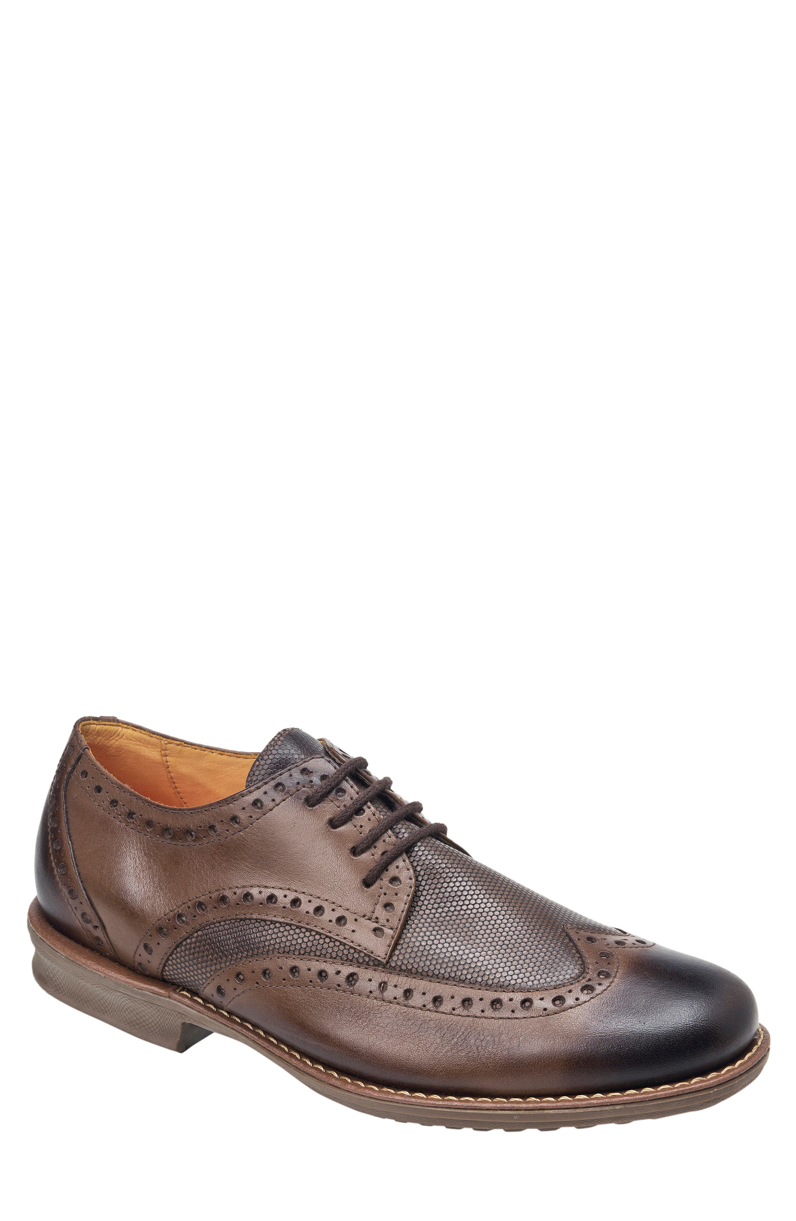 SANDRO MOSCOLONI, Martin Wingtip, Main thumbnail 1, color, BROWN LEATHER