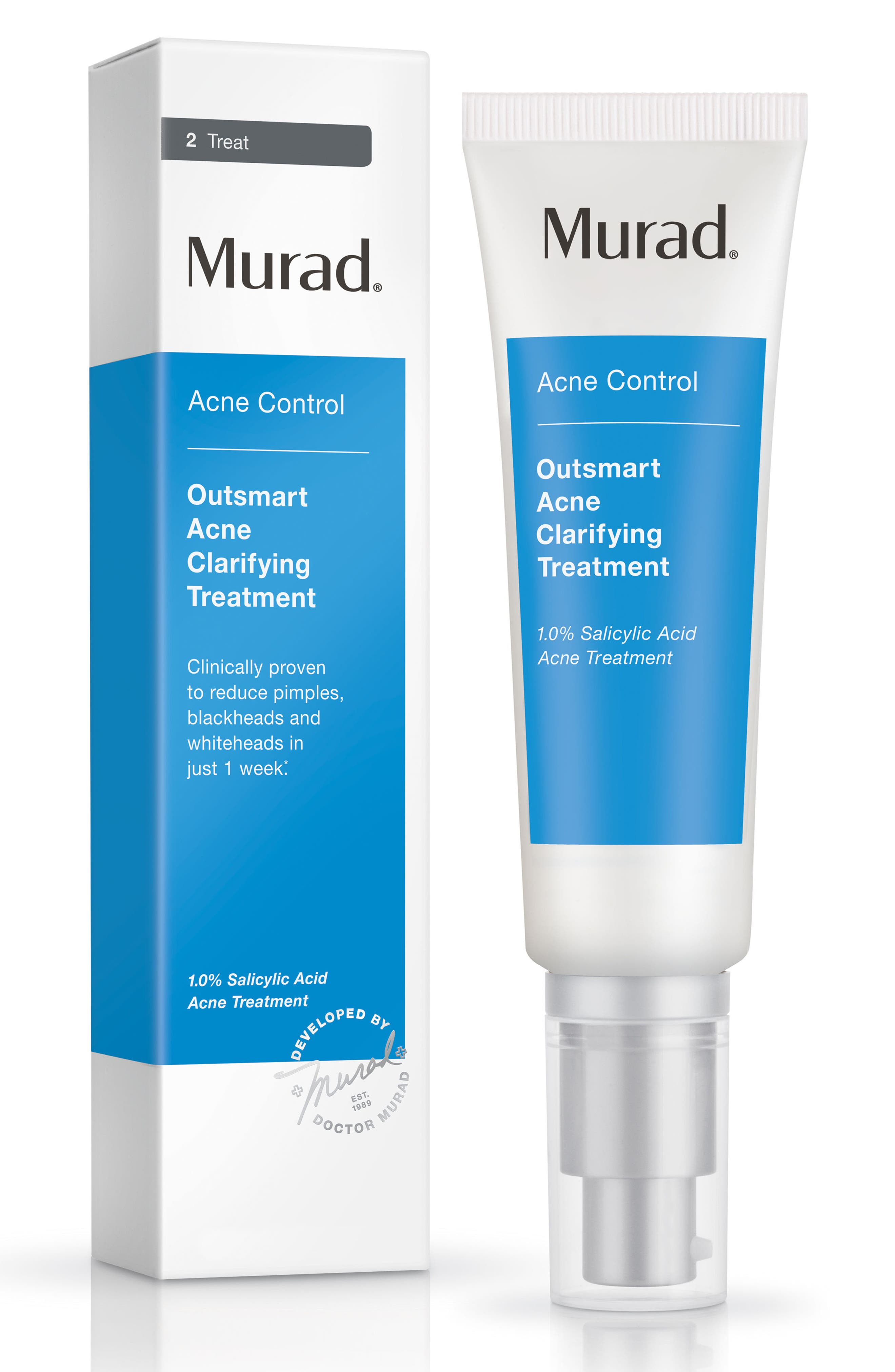 MURAD<SUP>®</SUP>, Outsmart Acne Clarifying Treatment, Alternate thumbnail 4, color, NO COLOR