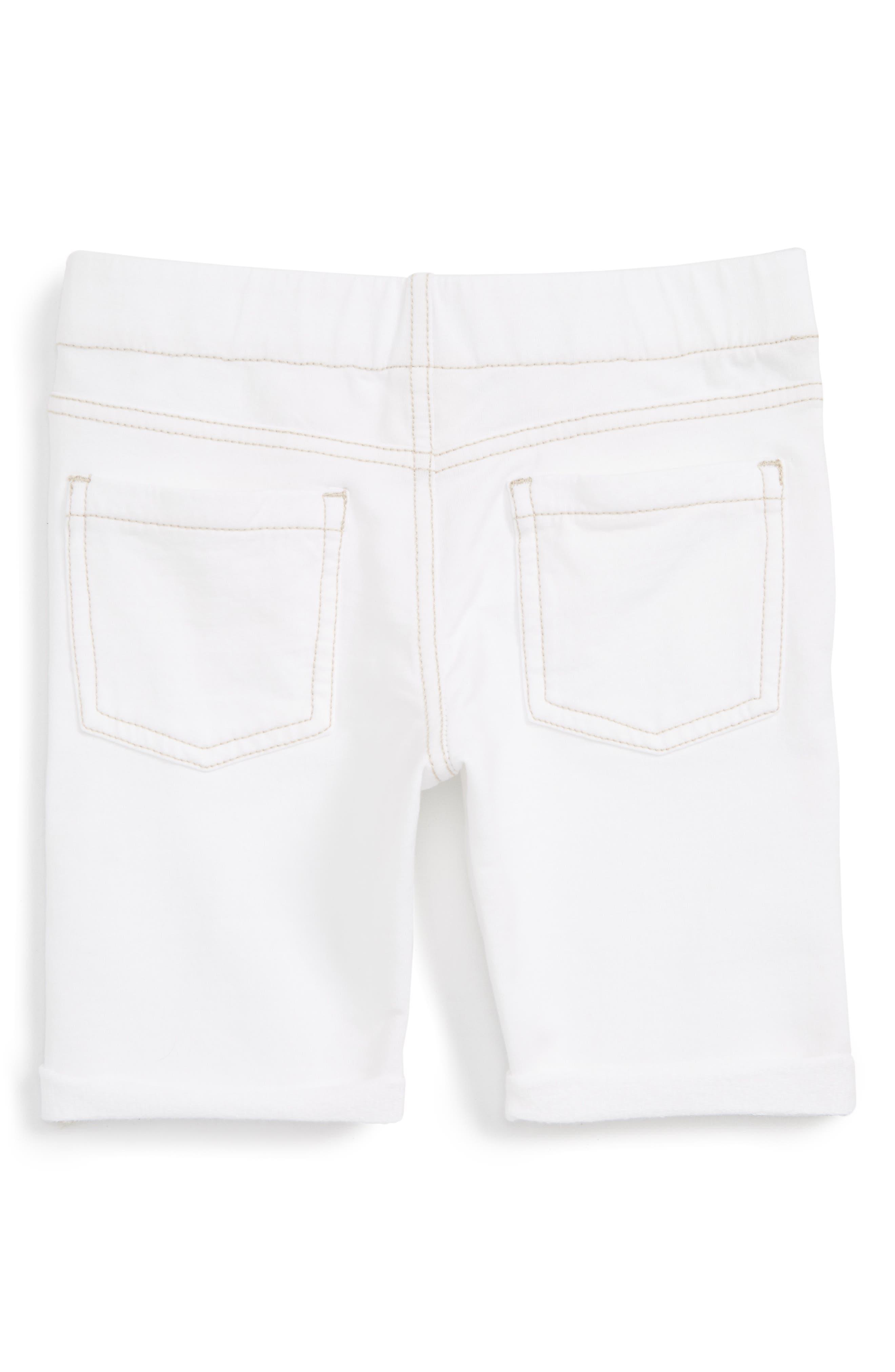 TUCKER + TATE, 'Jenna' Jegging Shorts, Alternate thumbnail 2, color, WHITE