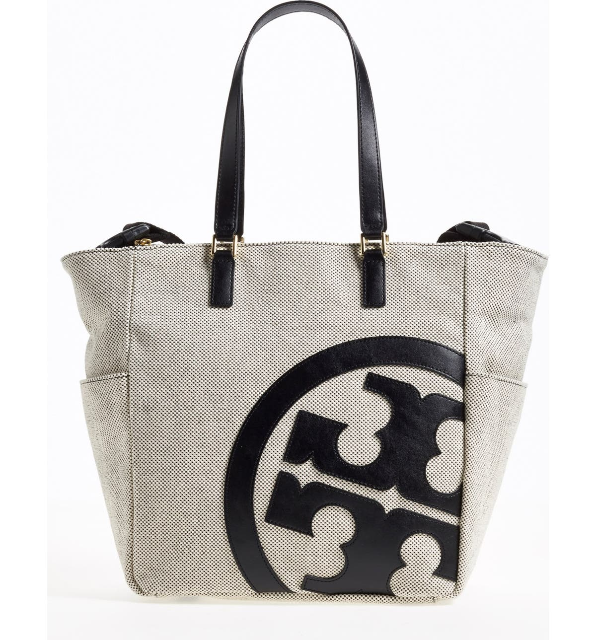 de9b450e26b Tory Burch  Lonnie  Canvas   Leather Baby Bag