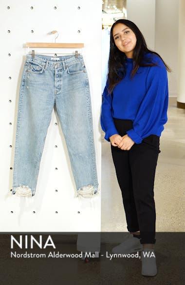 Helena Frayed Hem High Waist Jeans, sales video thumbnail