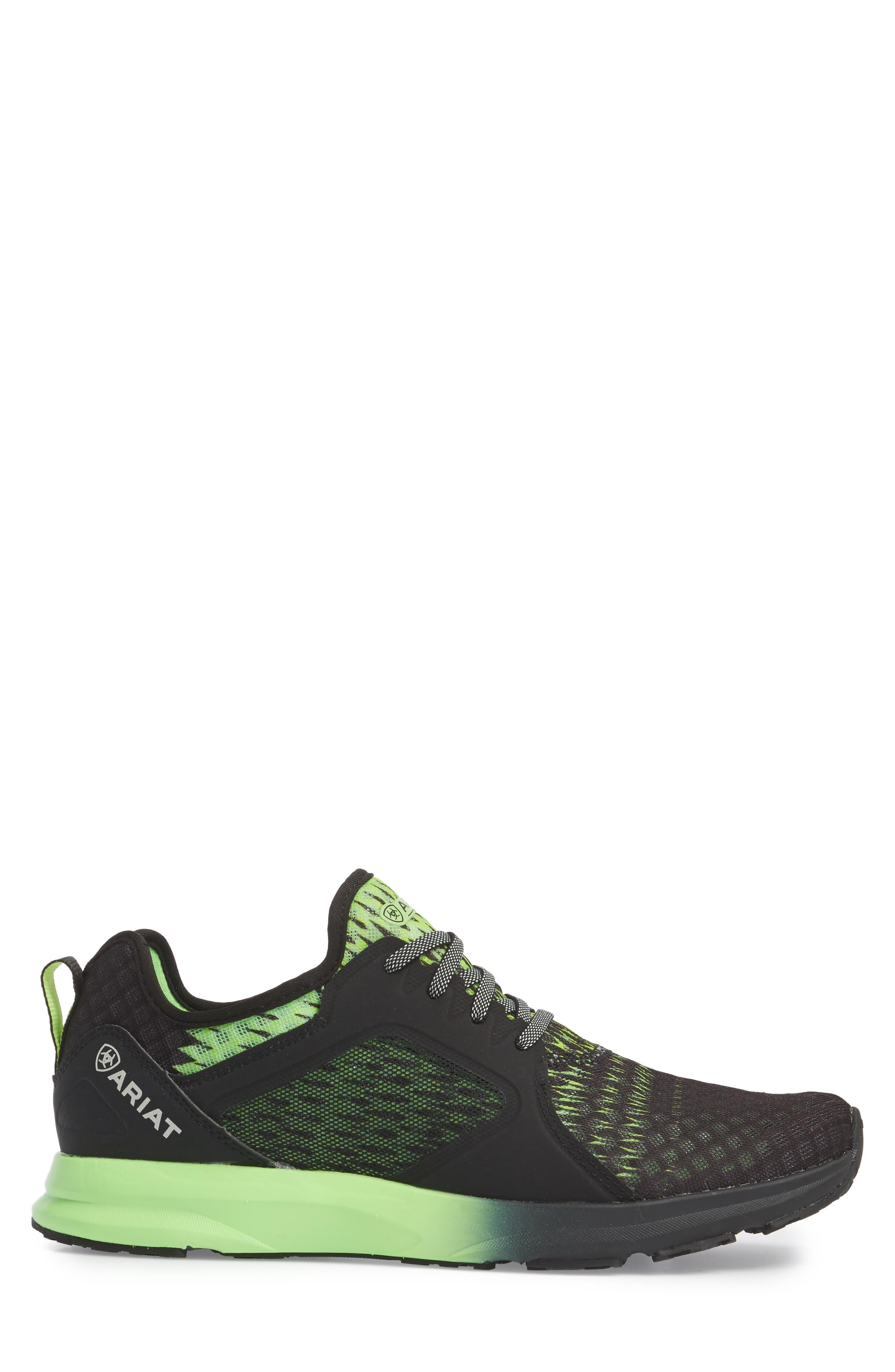 ARIAT, Fuse Ombré Sneaker, Alternate thumbnail 3, color, BLACK OMBRE
