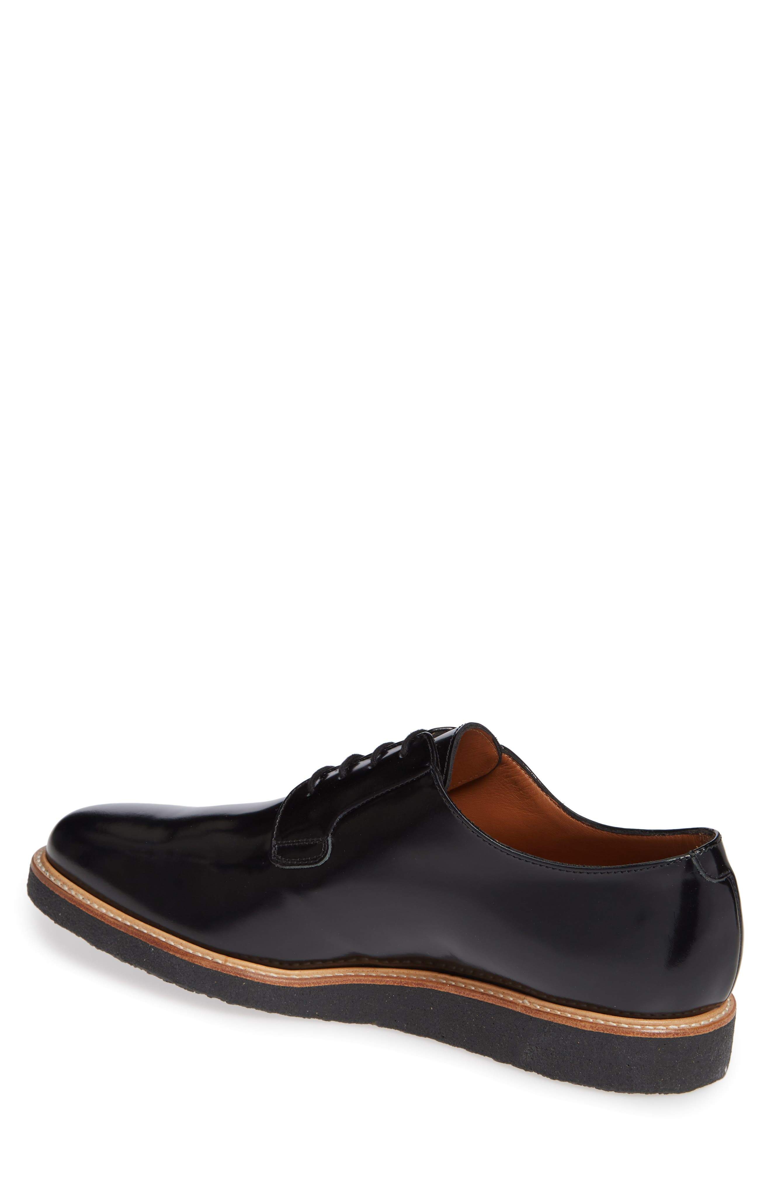 COMMON PROJECTS, Plain Toe Derby, Alternate thumbnail 2, color, BLACK SHINE