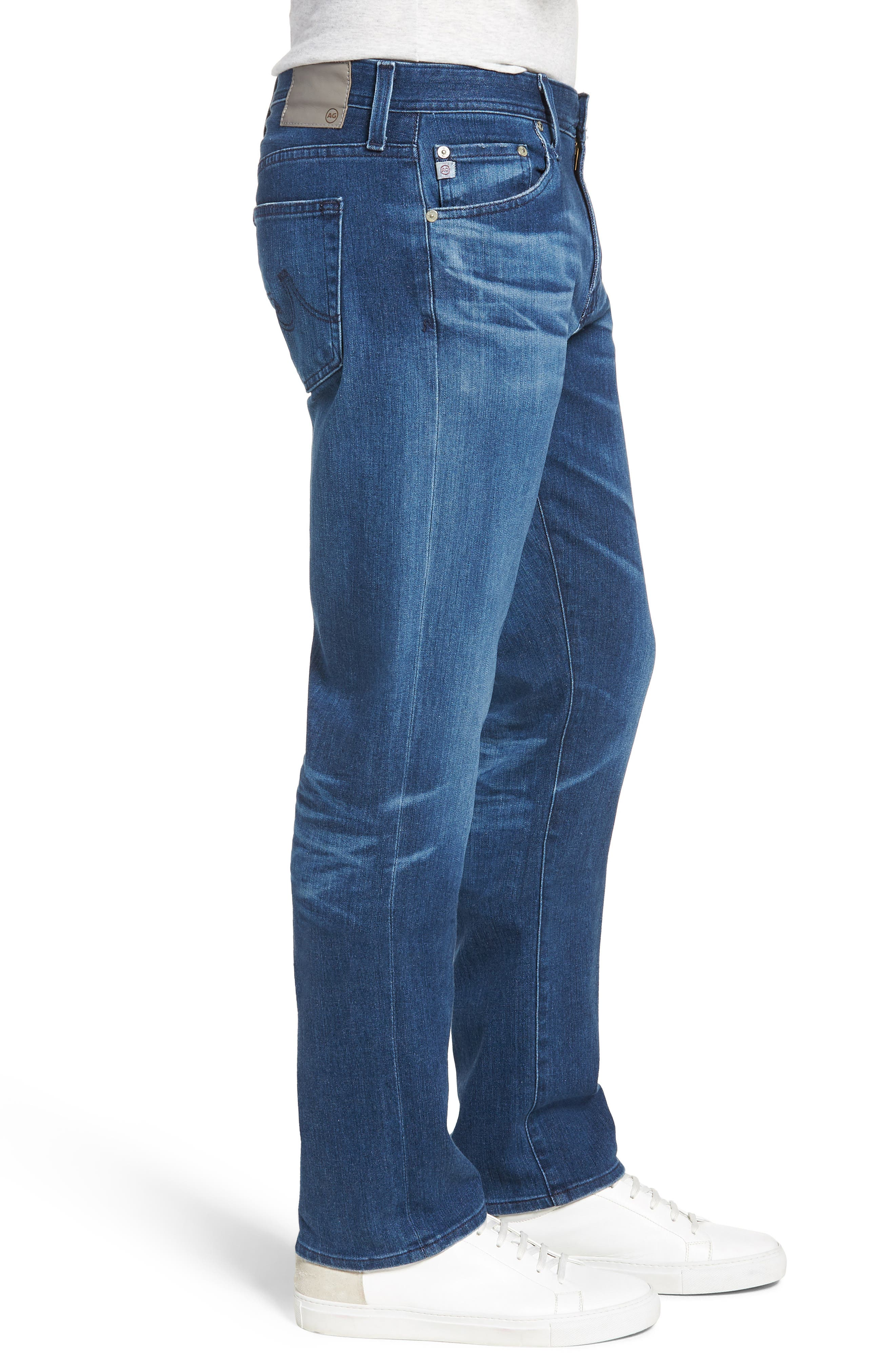 AG, Graduate Slim Straight Fit Jeans, Alternate thumbnail 3, color, 437