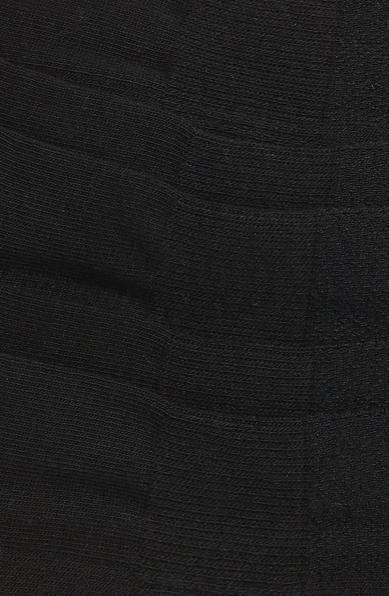 NORDSTROM MEN'S SHOP, 3-Pack No-Show Athletic Socks, Alternate thumbnail 2, color, BLACK