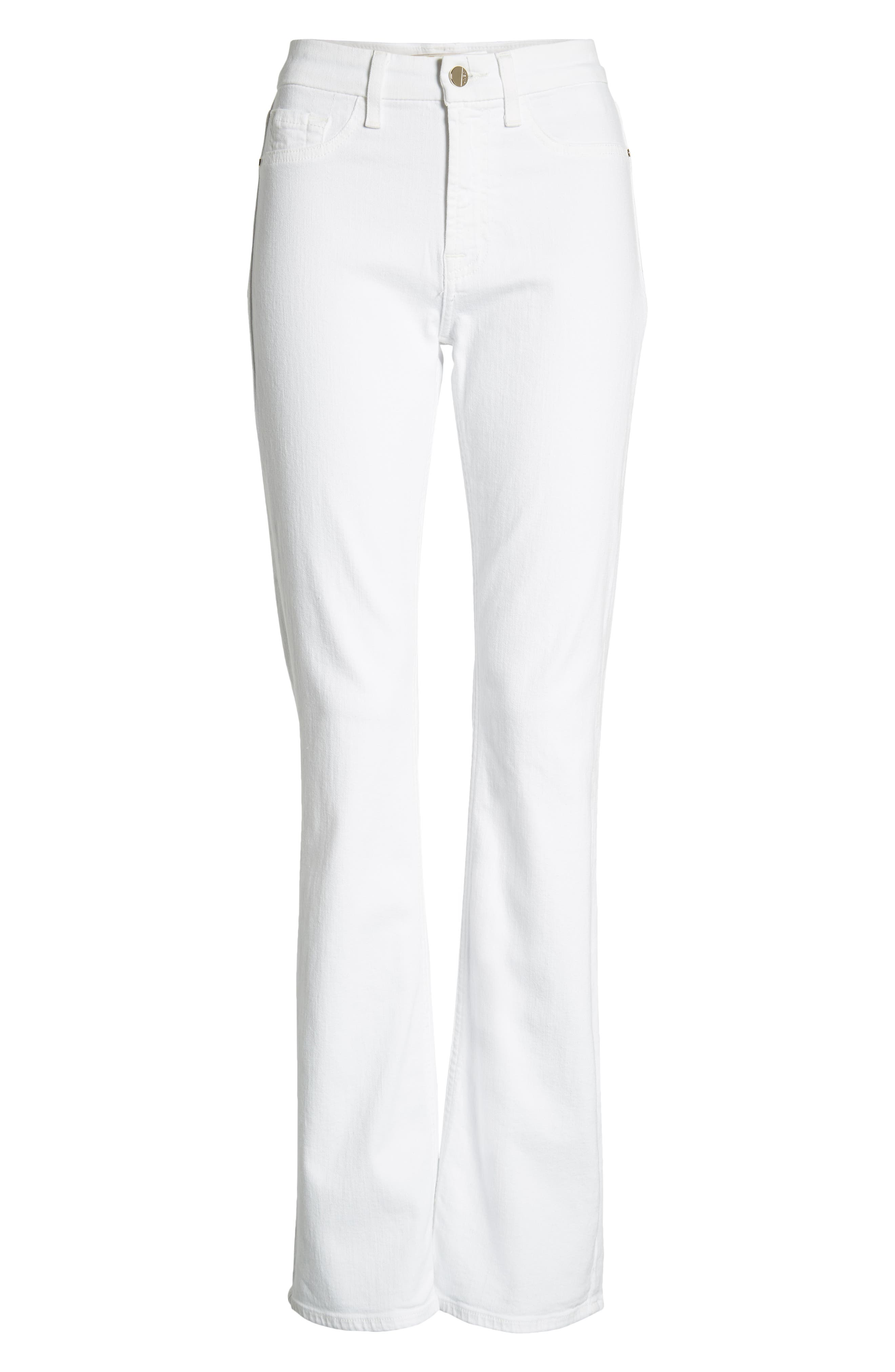JEN7 BY 7 FOR ALL MANKIND, Slim Bootcut Jeans, Alternate thumbnail 7, color, WHITE