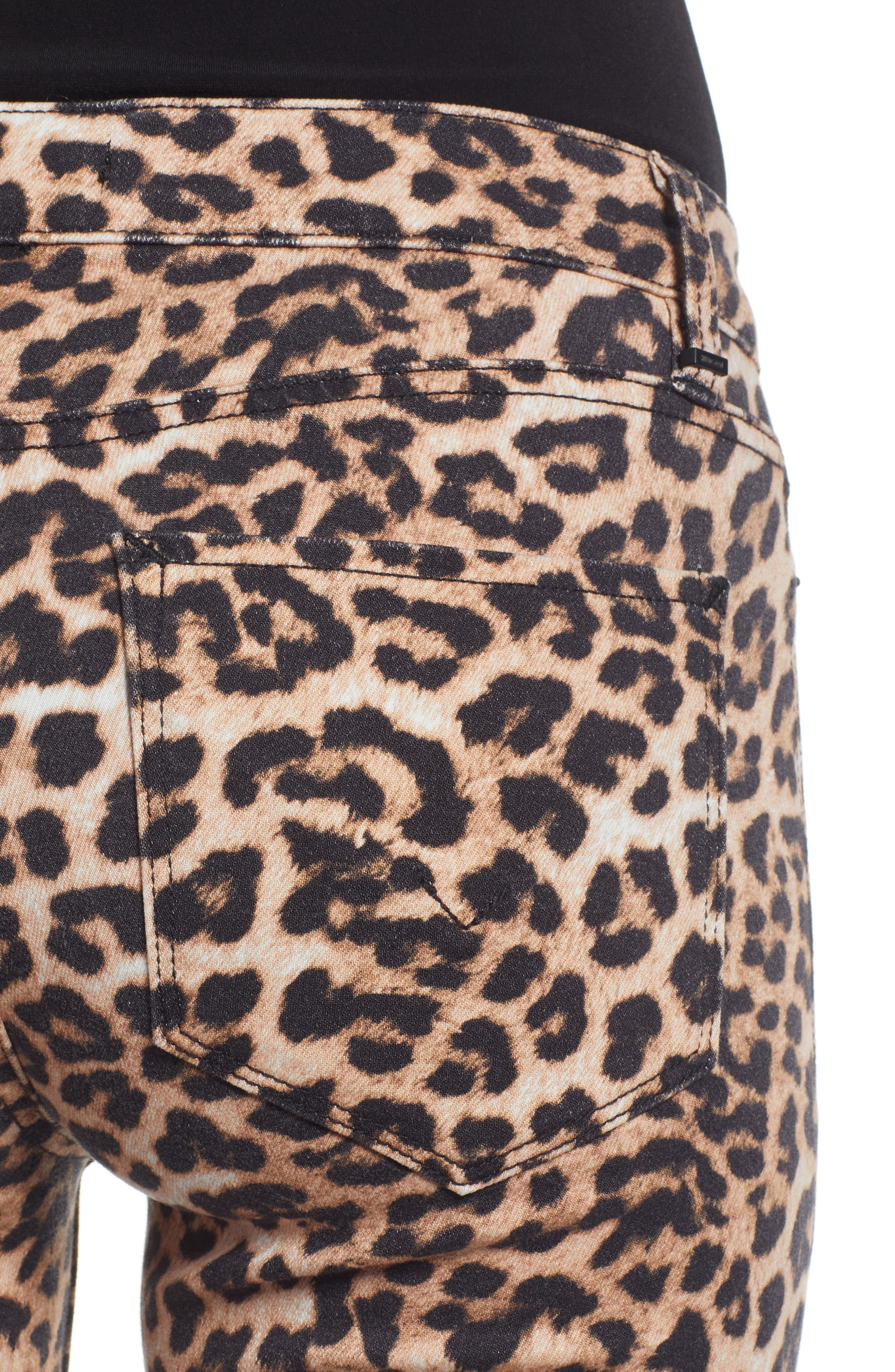 HUDSON JEANS, Hudson Ankle Straight Leg Jeans, Alternate thumbnail 6, color, CLASSIC LEOPARD