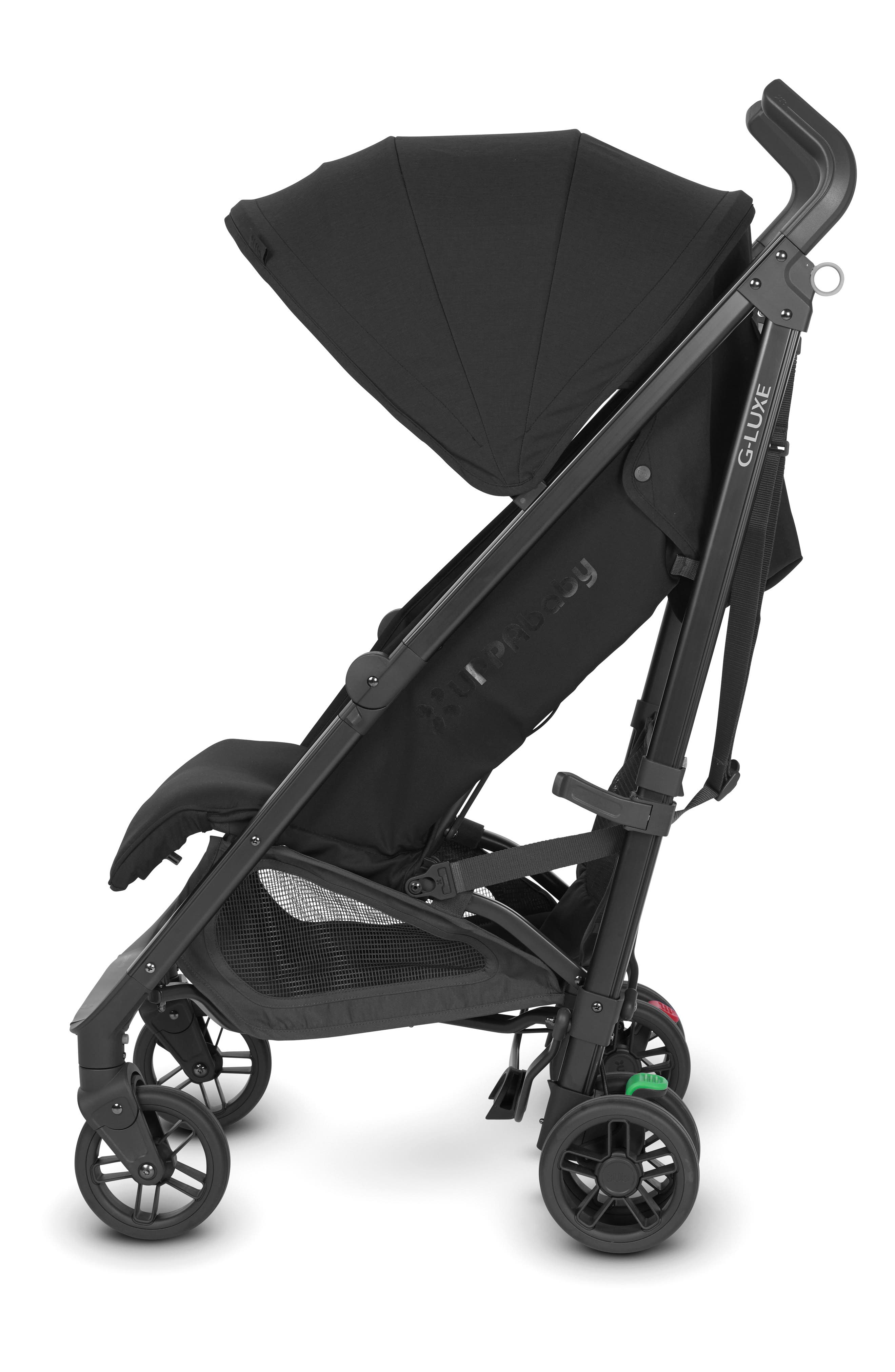 UPPABABY, G-LUXE 2018 Reclining Umbrella Stroller, Alternate thumbnail 2, color, JAKE BLACK/ CARBON