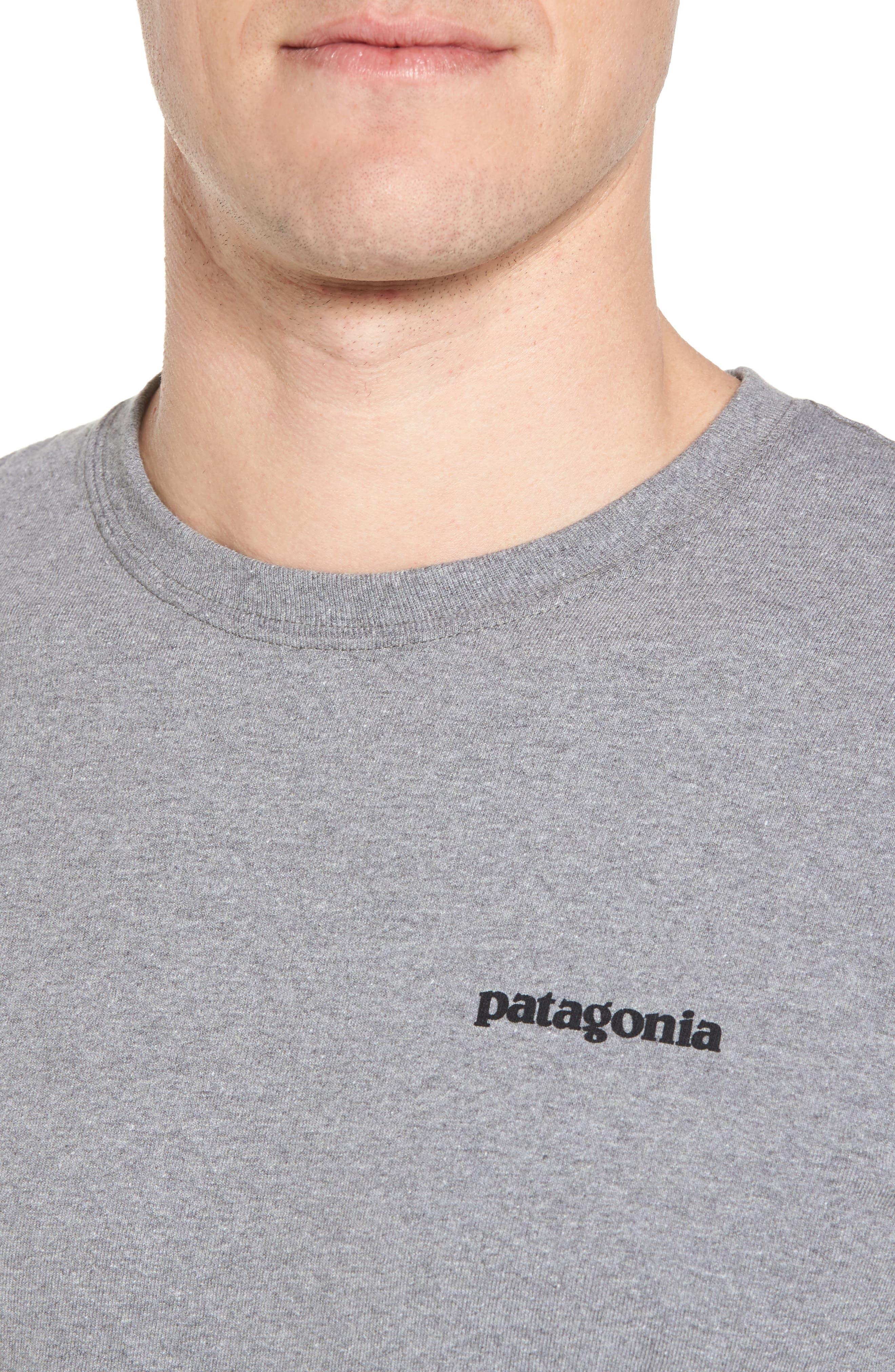 PATAGONIA, Responsibili-Tee T-Shirt, Alternate thumbnail 4, color, GRAVEL HEATHER