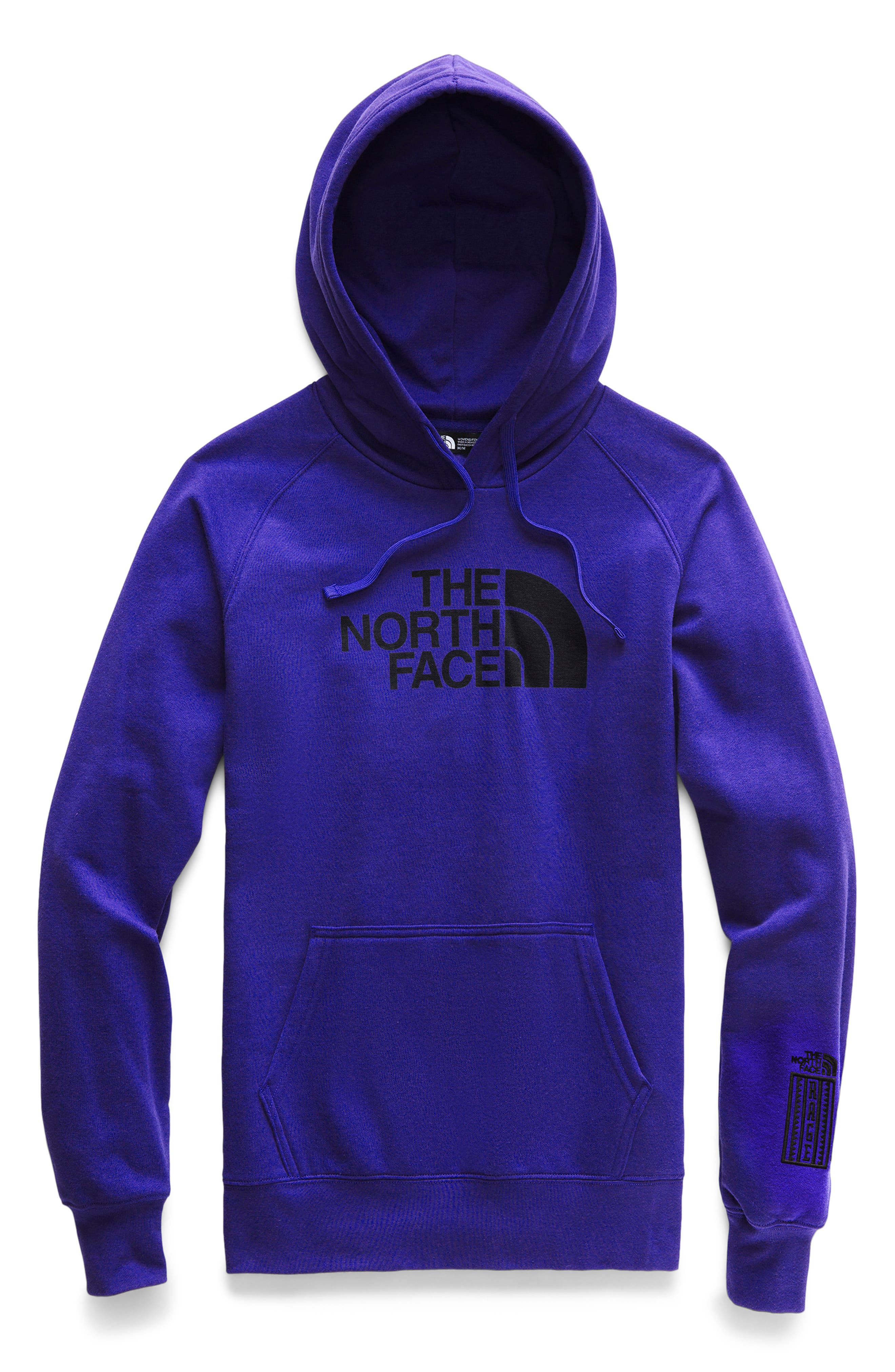 THE NORTH FACE, Half Dome Hoodie, Alternate thumbnail 7, color, AZTEC BLUE/ TNF BLACK