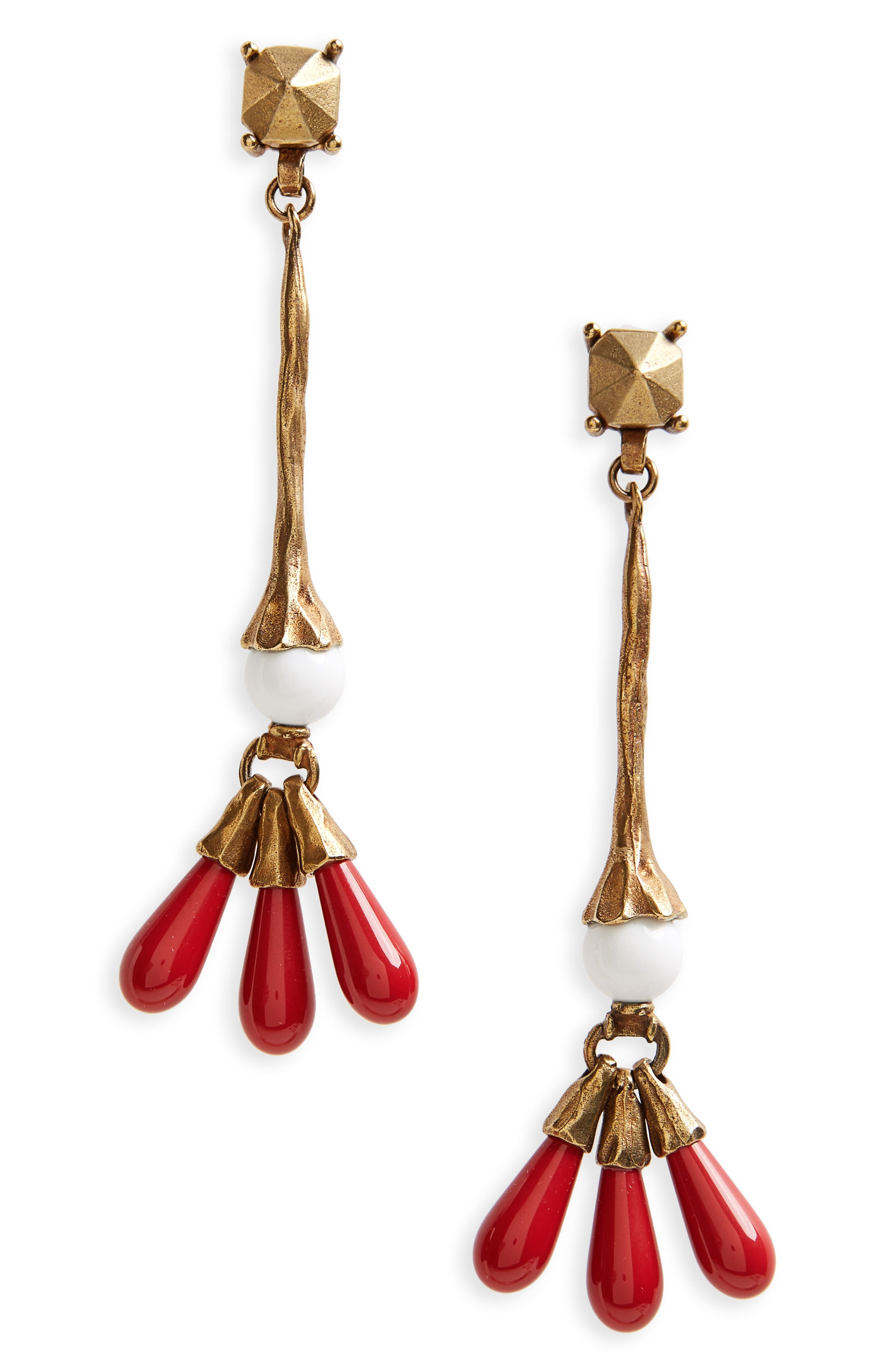 VALENTINO Drop Earrings, Main, color, 600