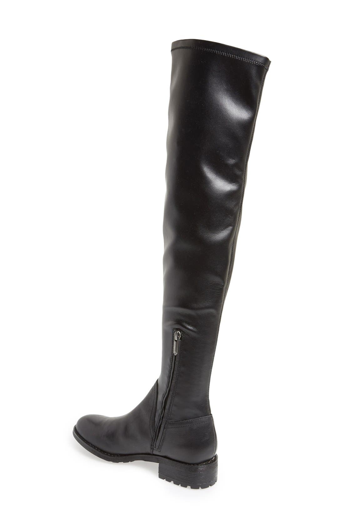 SAM EDELMAN, 'Remi' Over The Knee Boot, Alternate thumbnail 4, color, 001