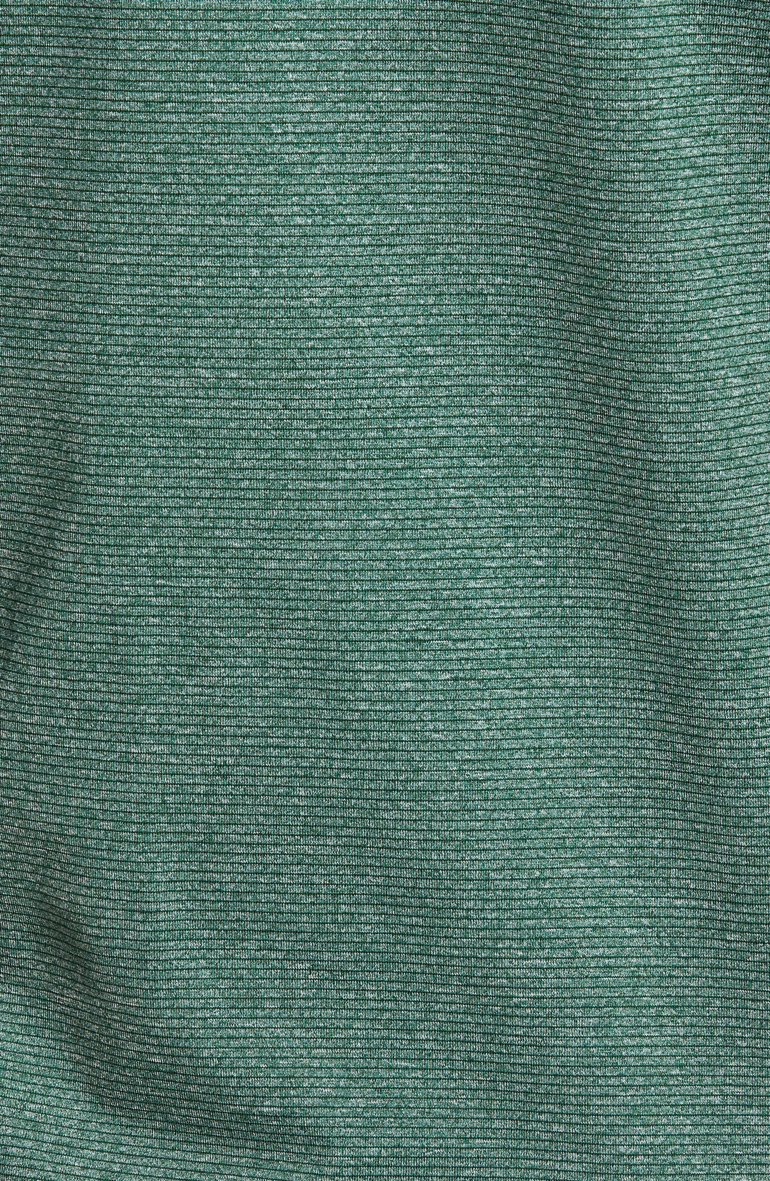 CUTTER & BUCK, Shoreline Classic Fit Half Zip Pullover, Alternate thumbnail 5, color, HUNTER HEATHER