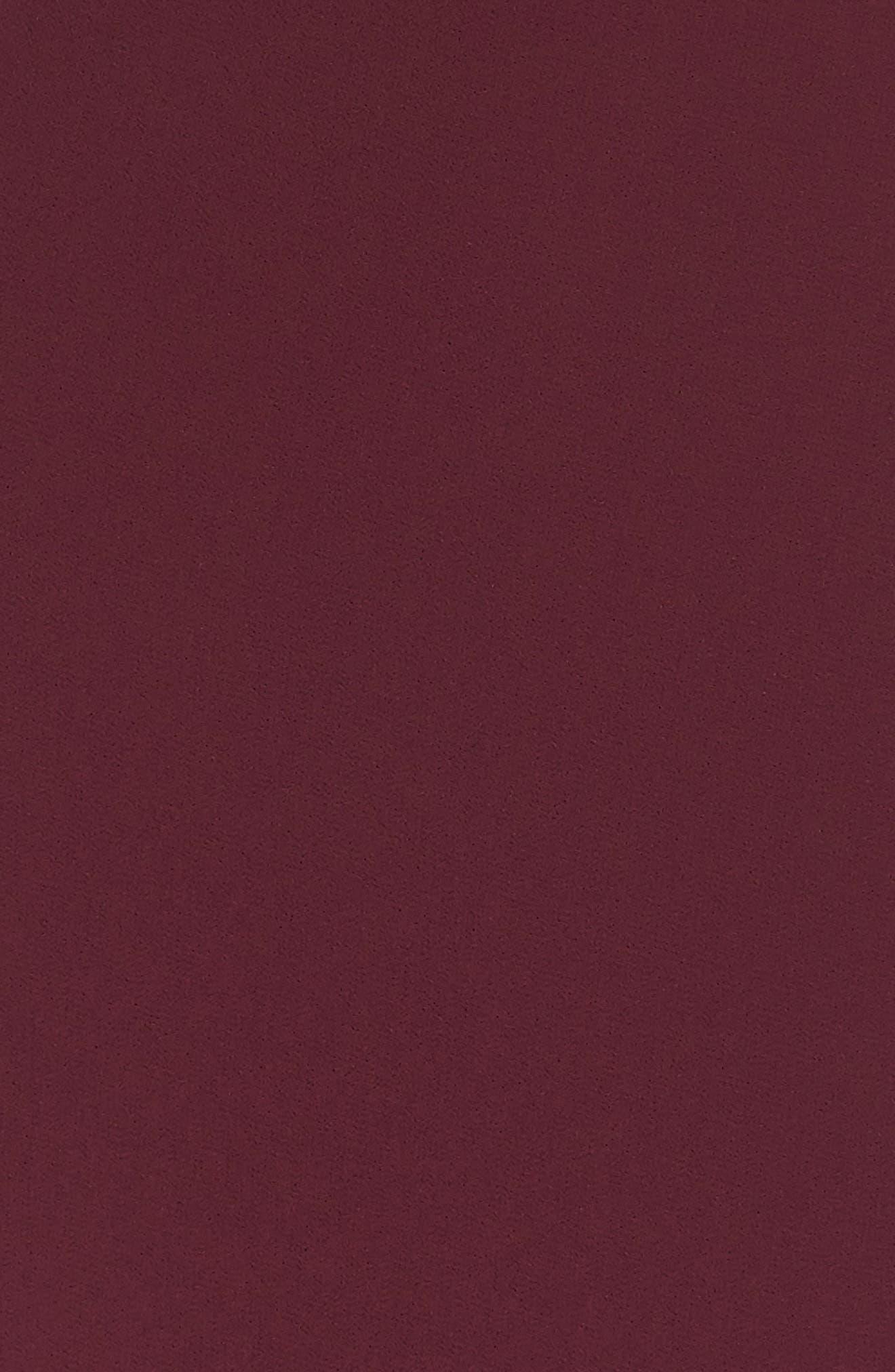 SHOW ME YOUR MUMU, Noelle Wrap Dress, Alternate thumbnail 6, color, MERLOT CHIFFON