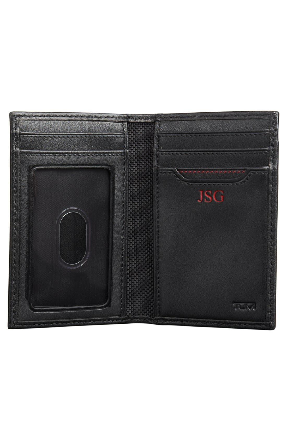 TUMI, Delta - ID Lock<sup>™</sup> Shielded Multi Window Card Case, Alternate thumbnail 4, color, BLACK
