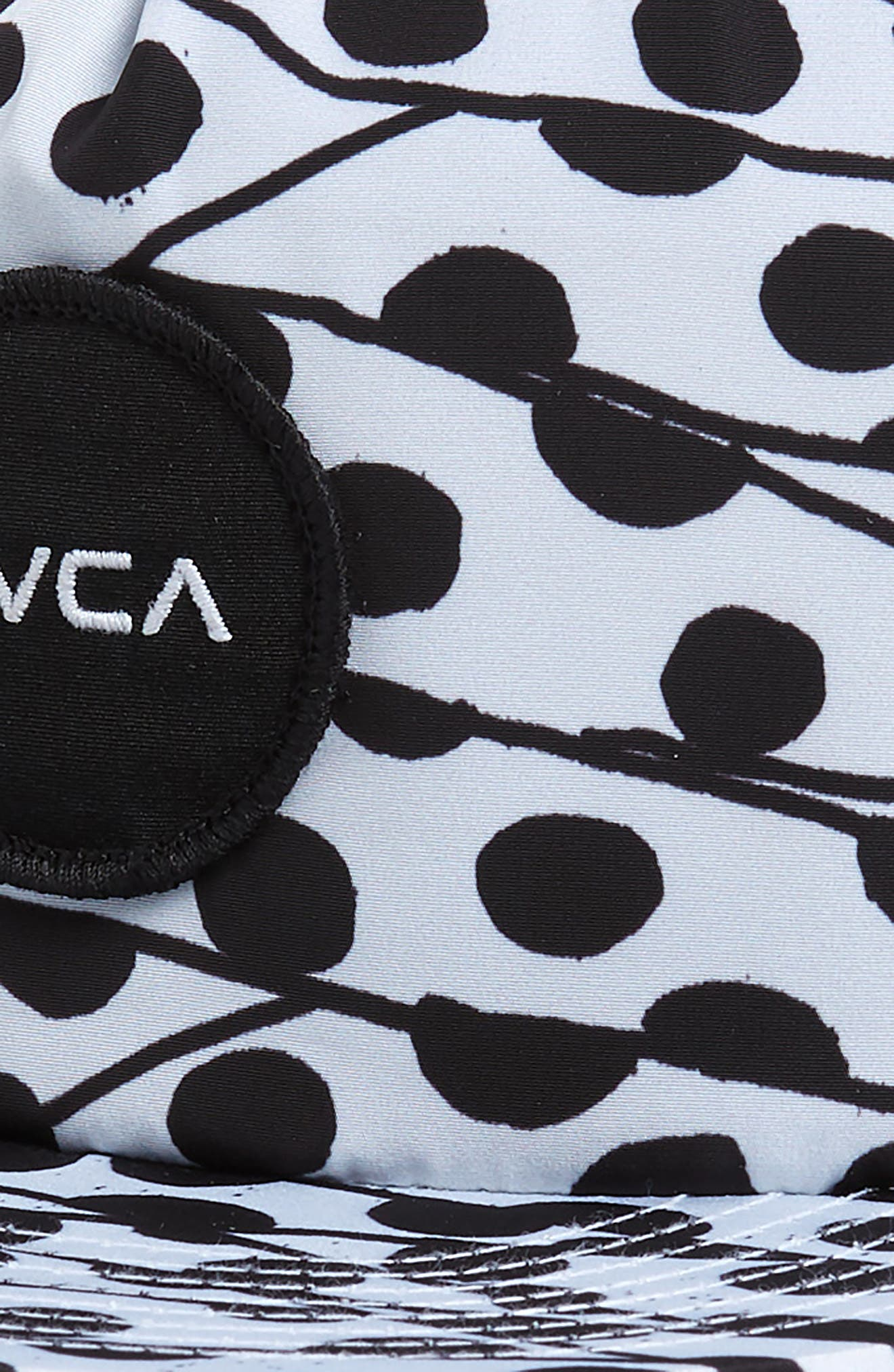 RVCA, Print Snapback Baseball Cap, Alternate thumbnail 3, color, BLACK/ WHITE