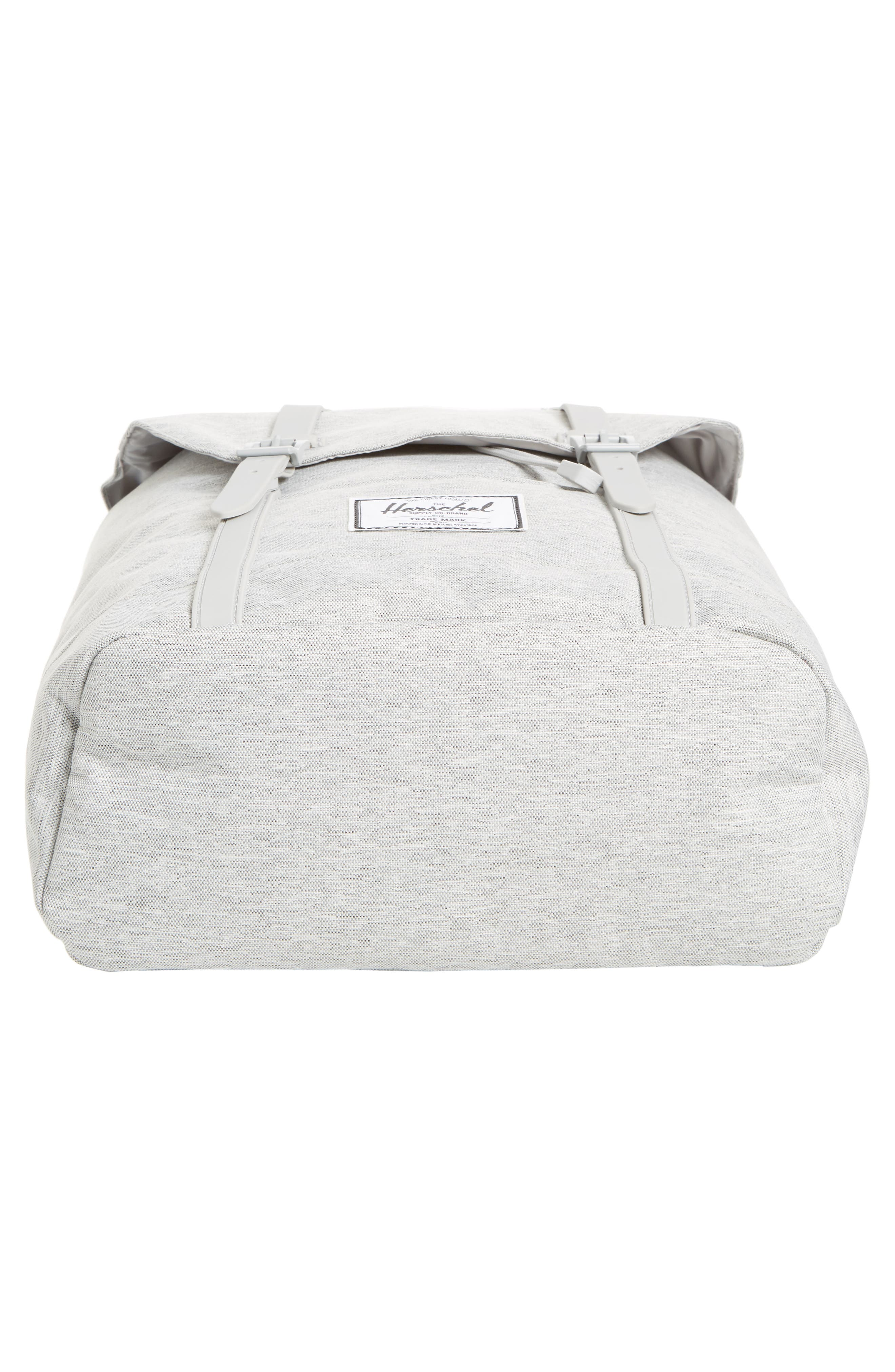 HERSCHEL SUPPLY CO., Retreat Backpack, Alternate thumbnail 7, color, LIGHT GREY CROSSHATCH/ GREY