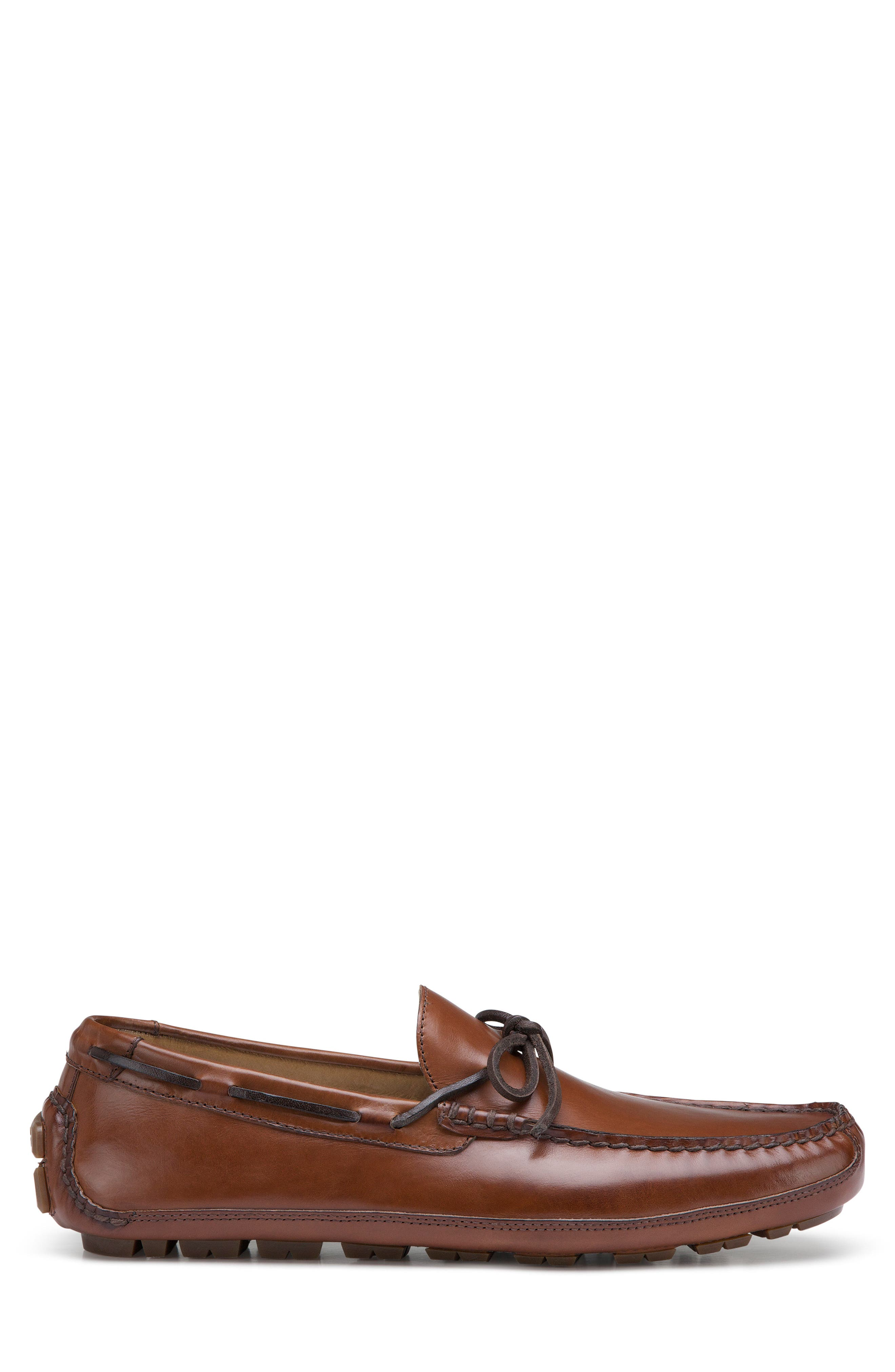 TRASK, Dillion Driving Loafer, Alternate thumbnail 2, color, BROWN LEATHER