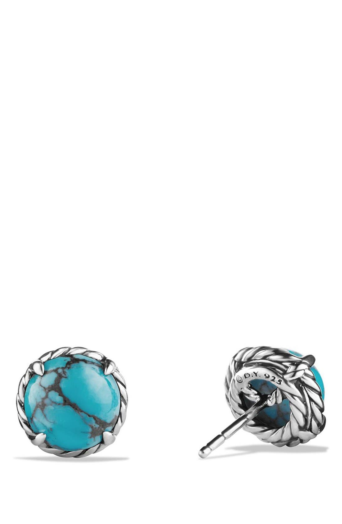 DAVID YURMAN, 'Châtelaine' Earrings, Alternate thumbnail 2, color, SILVER/ CHINESE TURQUOISE