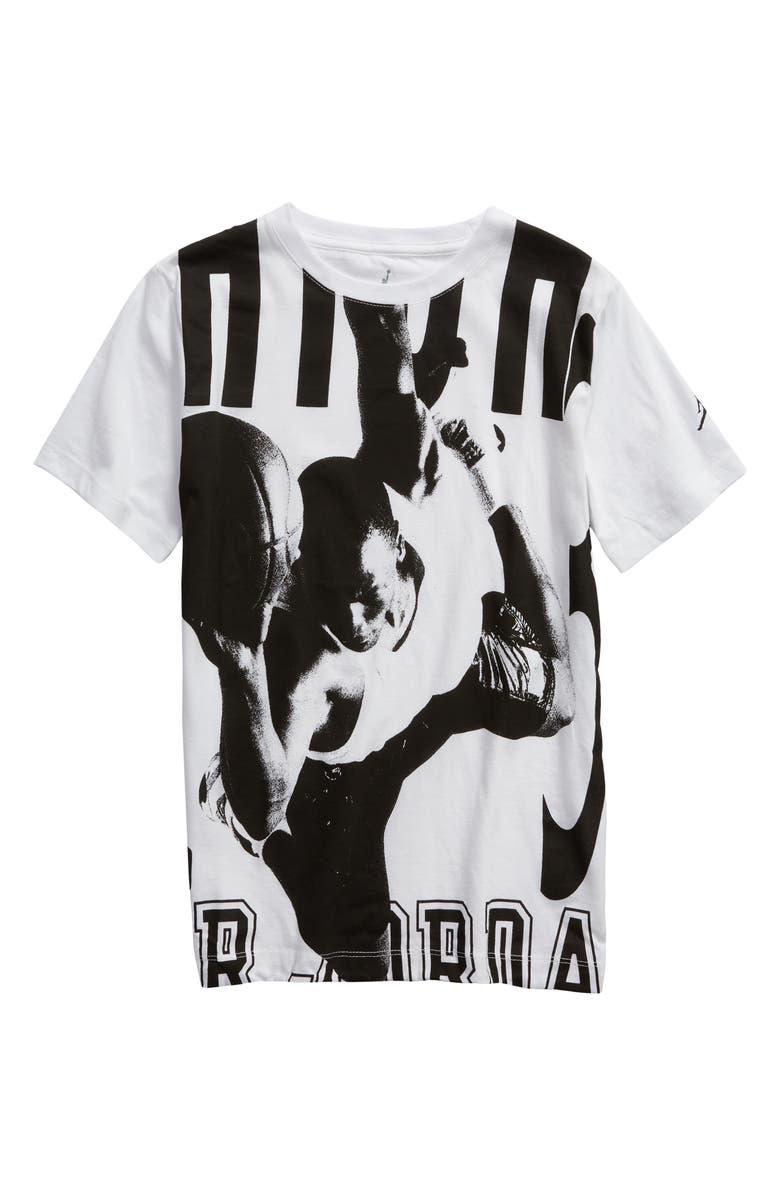 reputable site bcf39 6e093 JORDAN Jumpman HBR T-Shirt, Main, color, WHITE