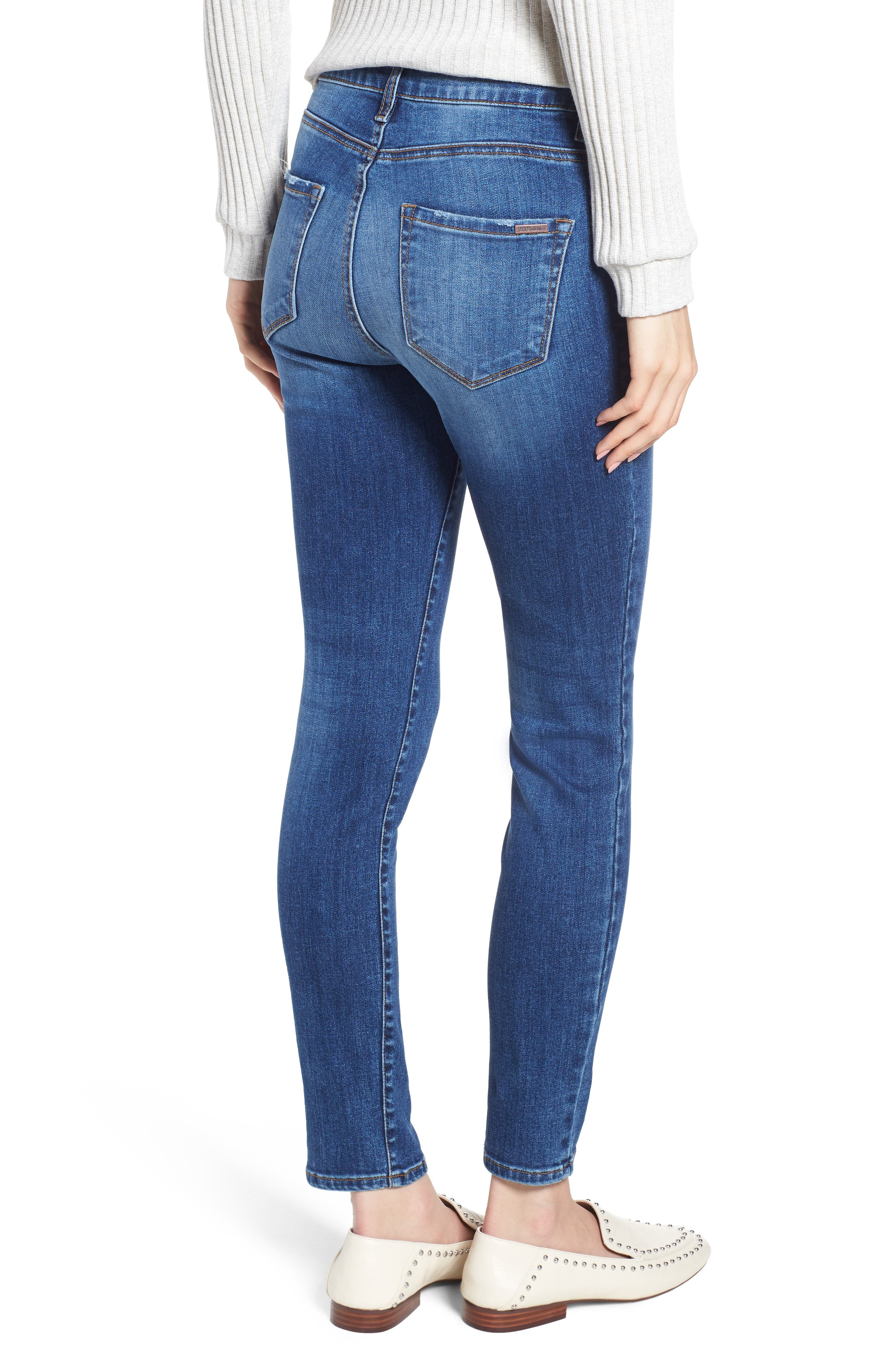 STS BLUE, Emma High Waist Ankle Skinny Jeans, Alternate thumbnail 2, color, MERRYL