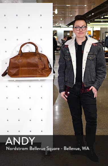 'Logan' Leather Overnight Bag, sales video thumbnail