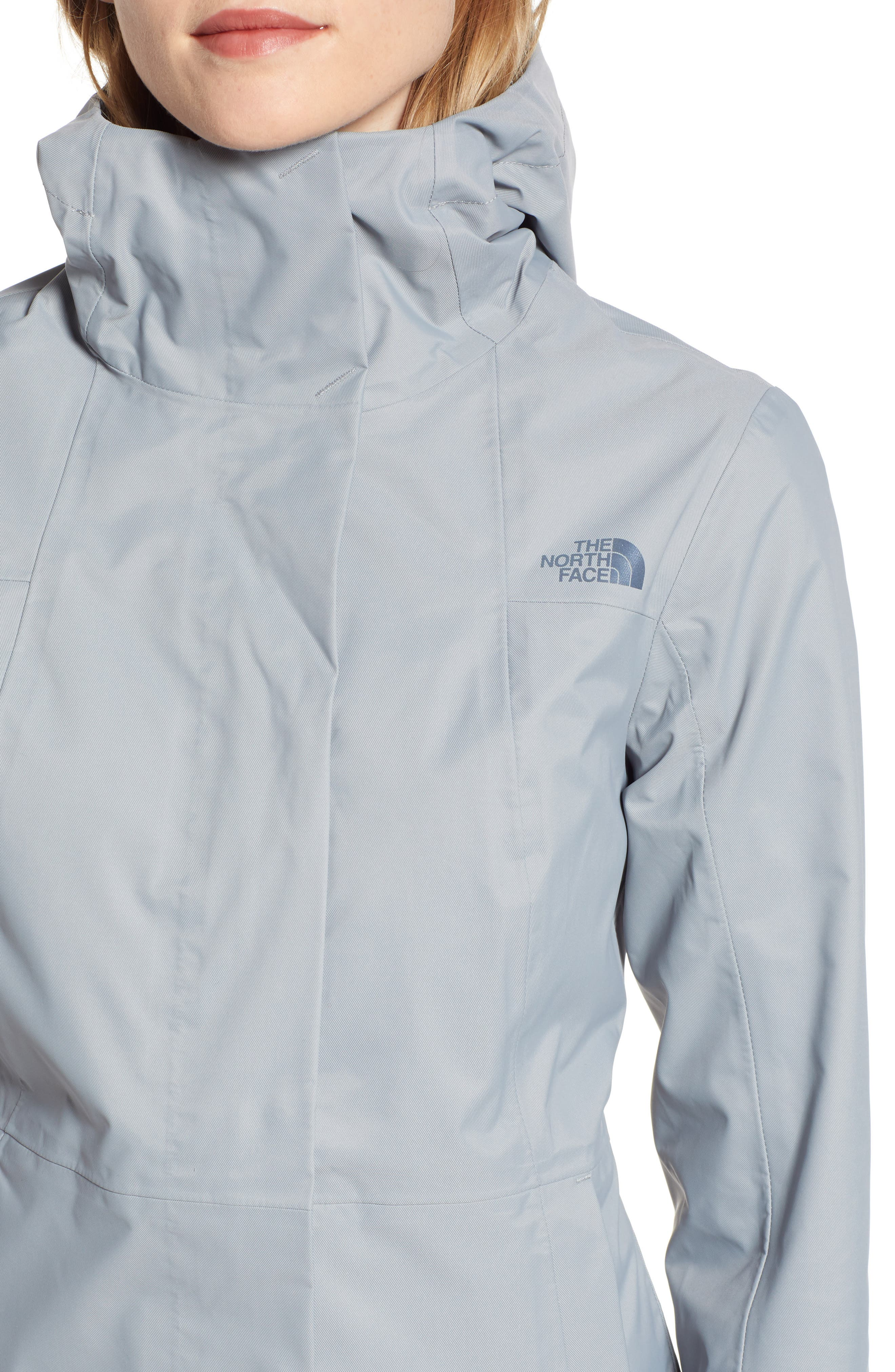 THE NORTH FACE, City Midi Trench Coat, Alternate thumbnail 5, color, MID GREY