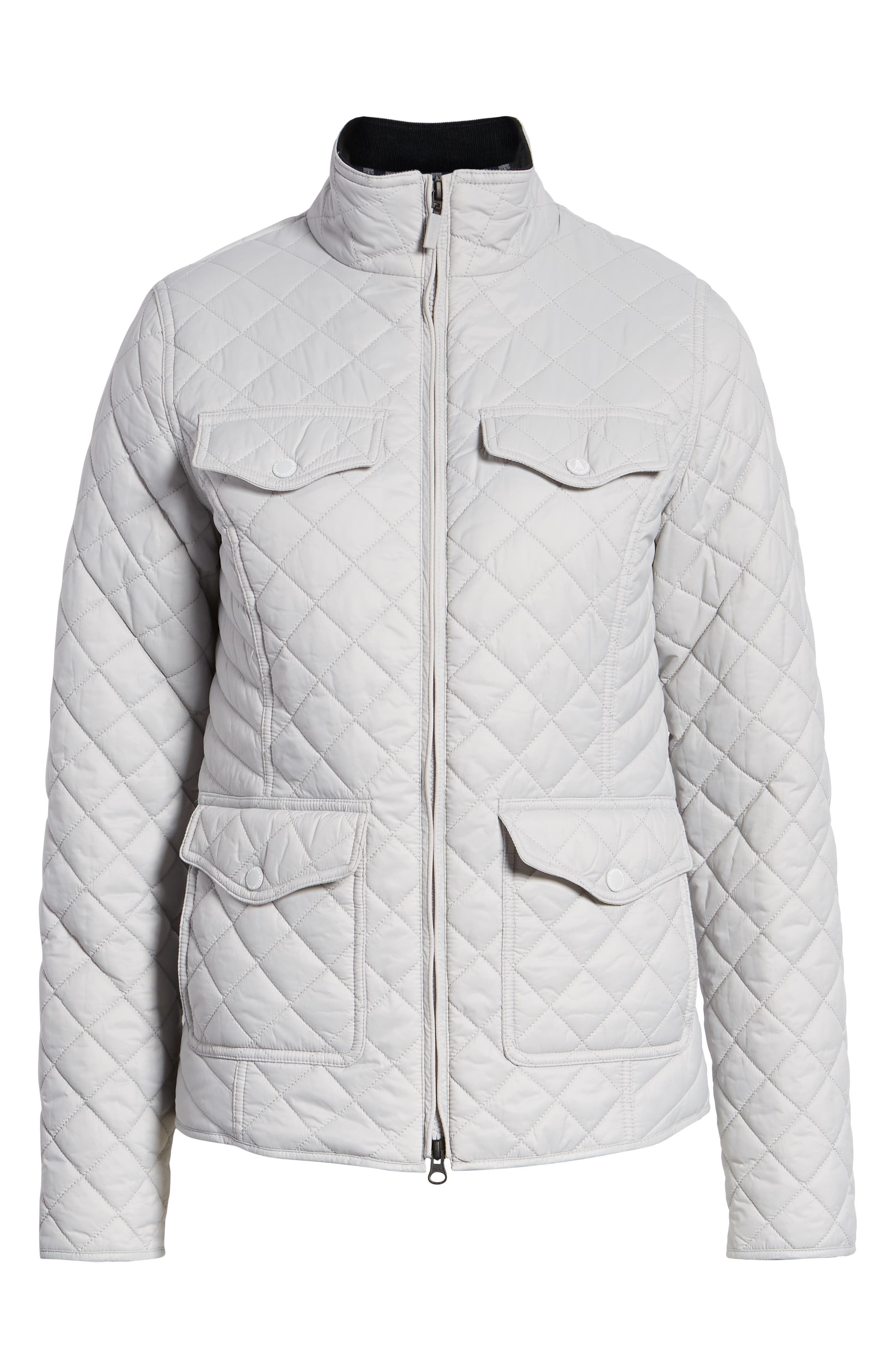 BARBOUR, Sailboat Quilted Jacket, Alternate thumbnail 6, color, 100