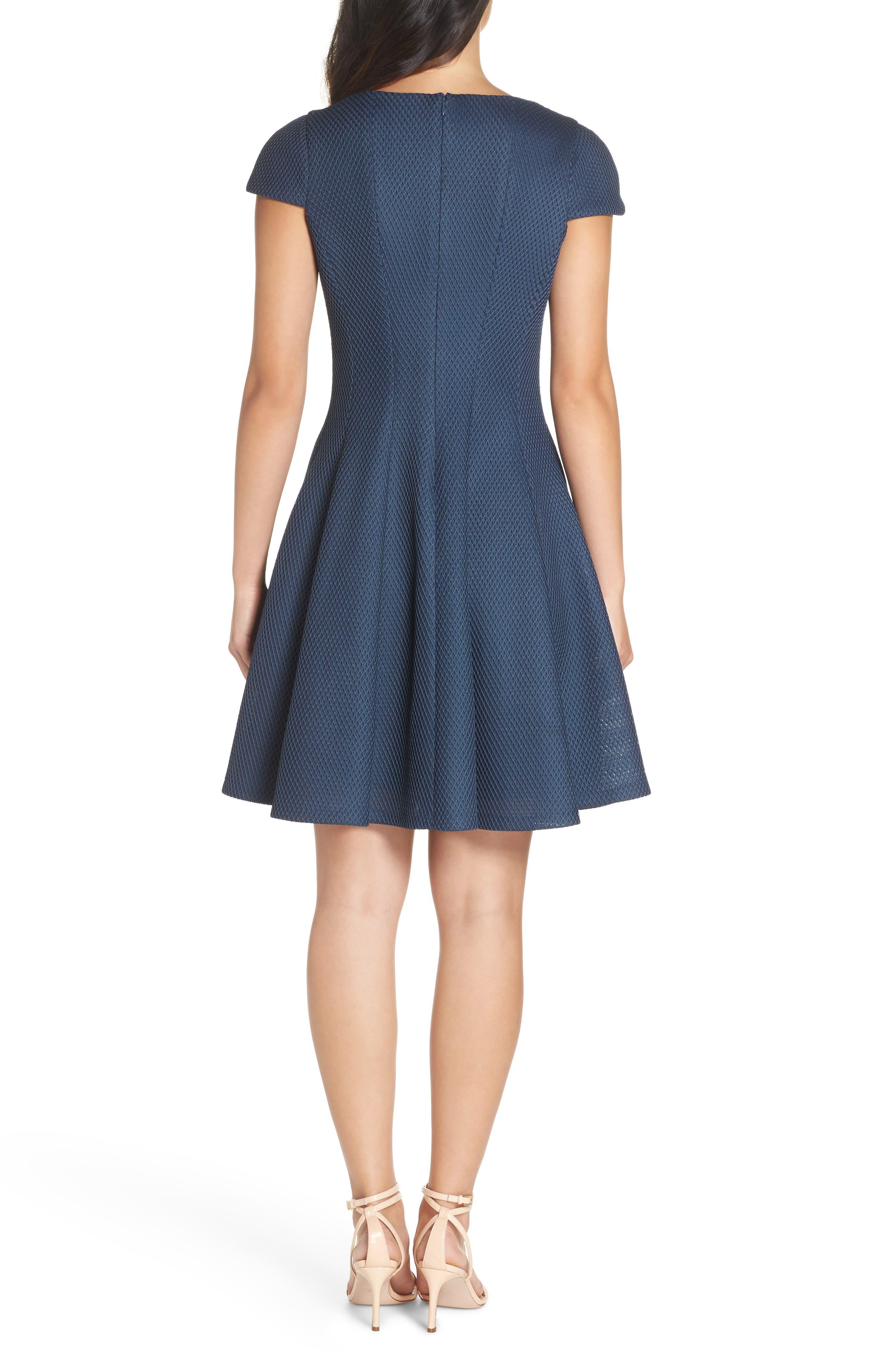 JULIA JORDAN, Fit & Flare Dress, Alternate thumbnail 2, color, 445