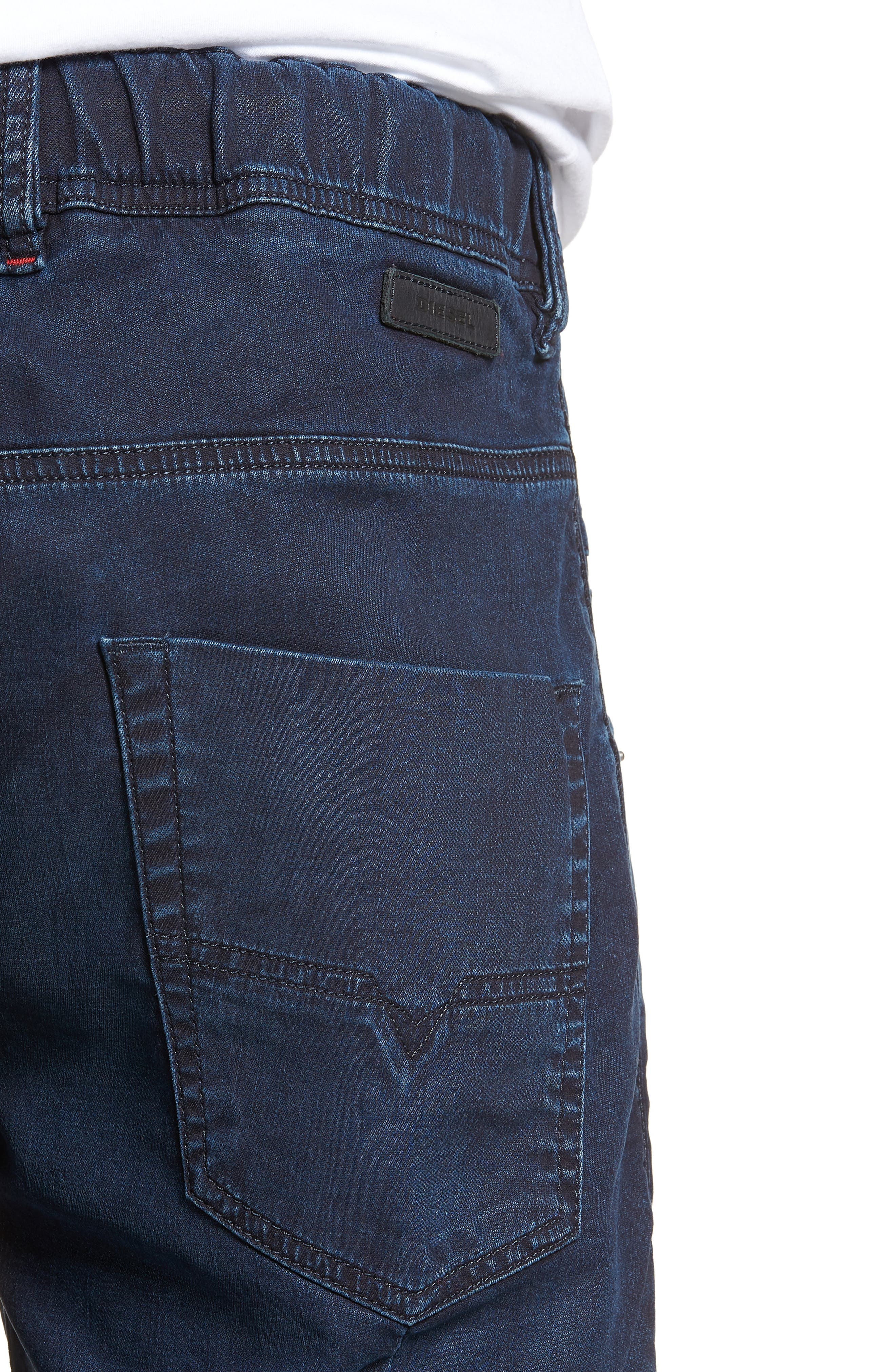 DIESEL<SUP>®</SUP>, Krooshort Denim Shorts, Alternate thumbnail 4, color, 400