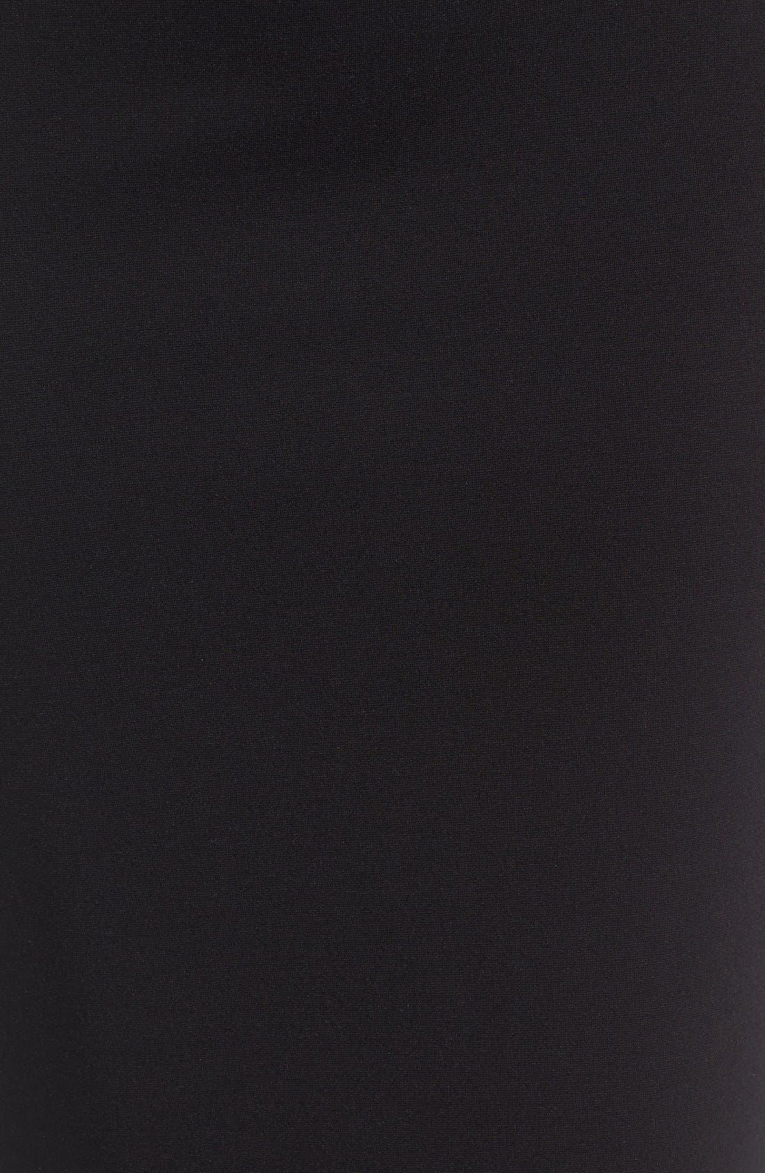 VINCE CAMUTO, Ponte Midi Skirt, Alternate thumbnail 4, color, RICH BLACK