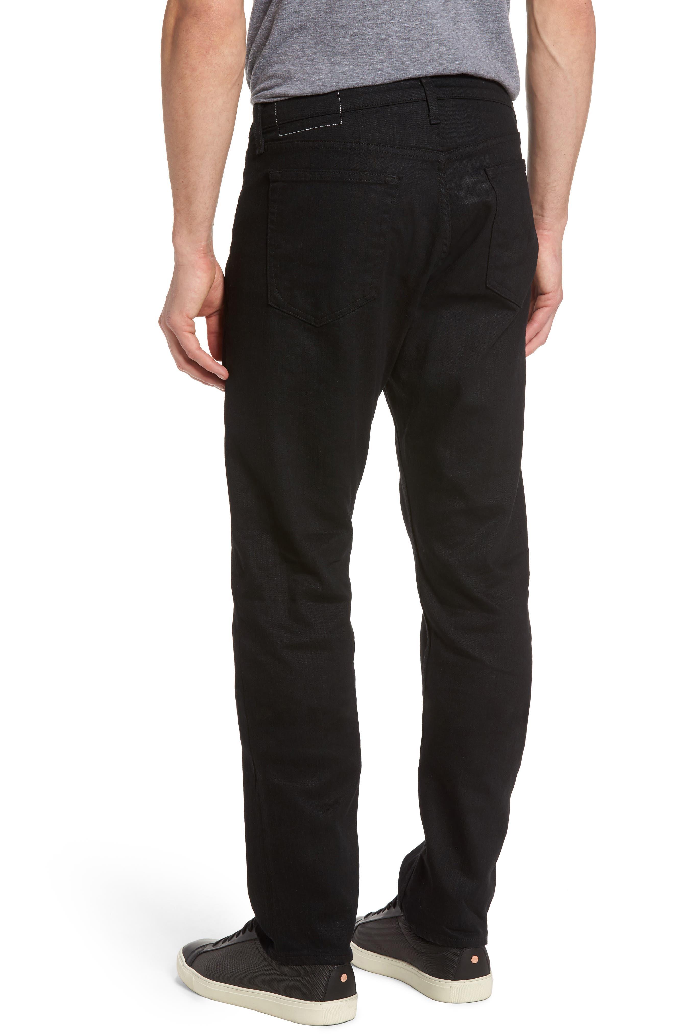RAG & BONE, Fit 3 Slim Straight Leg Jeans, Alternate thumbnail 2, color, BLACK