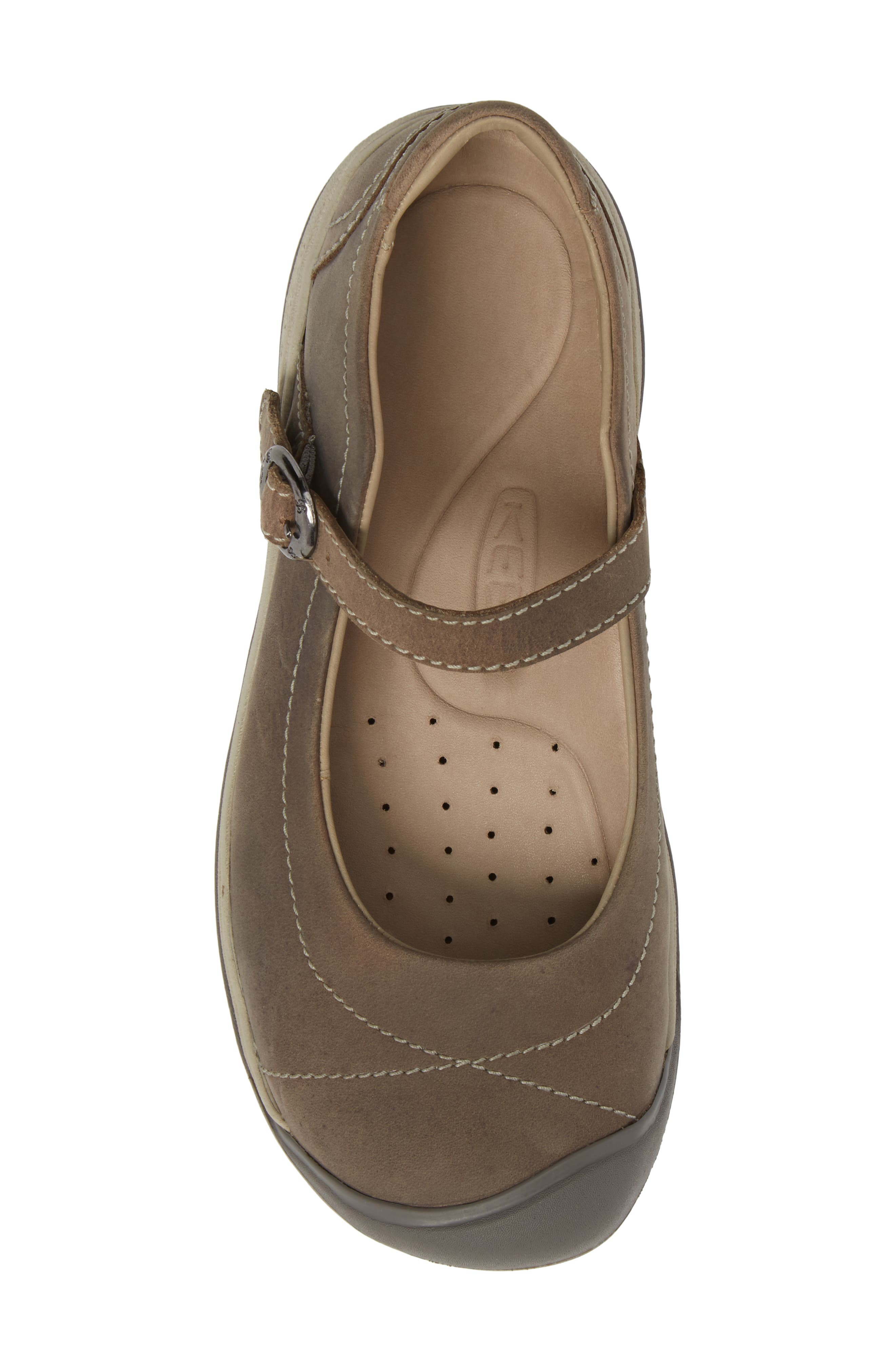 KEEN, Presidio II Mary Jane Flat, Alternate thumbnail 5, color, PALOMA/ SILVER BIRCH LEATHER