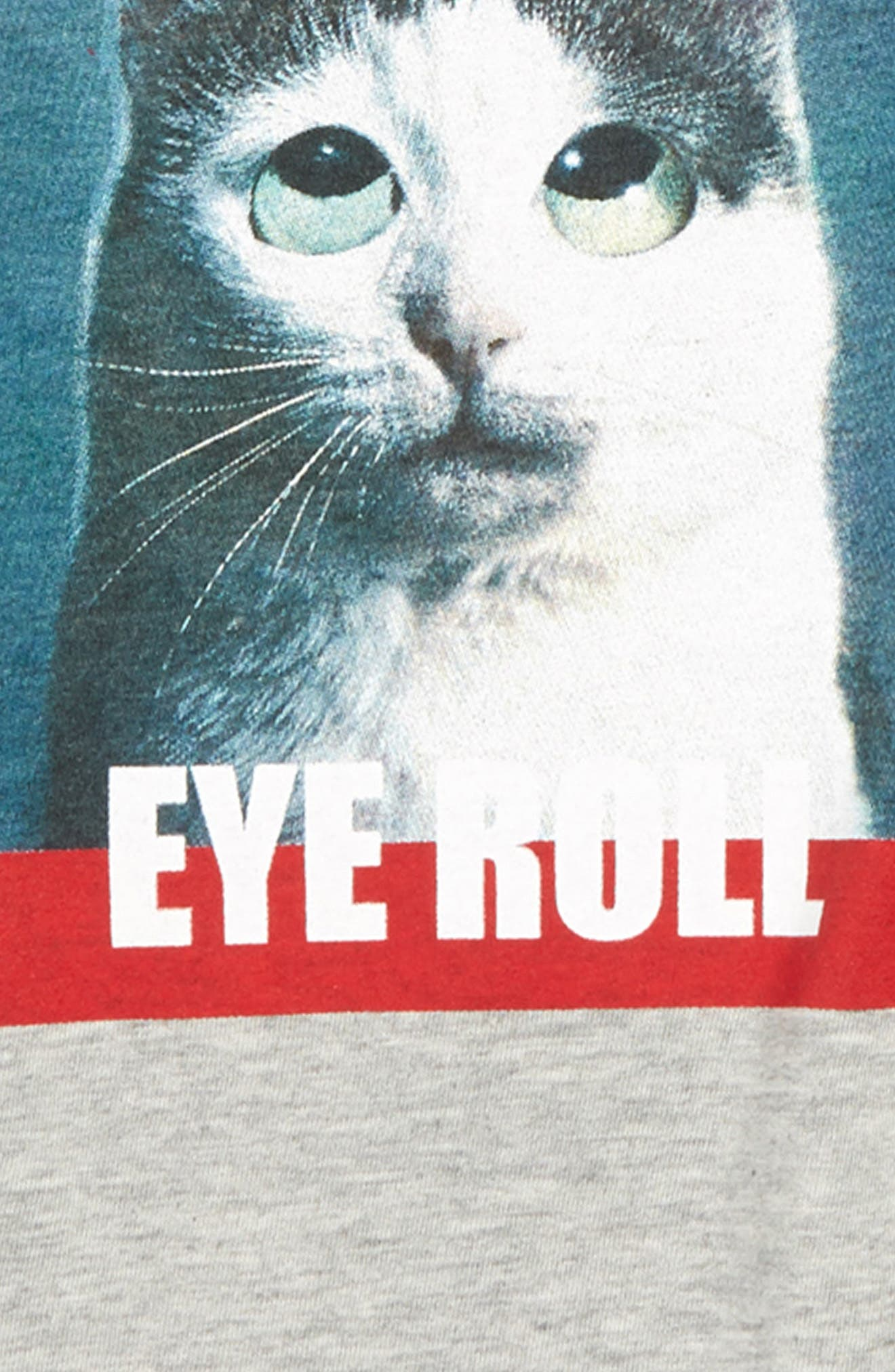 TEN SIXTY SHERMAN, This Is How Eye Roll Graphic T-Shirt, Alternate thumbnail 2, color, H.GREY