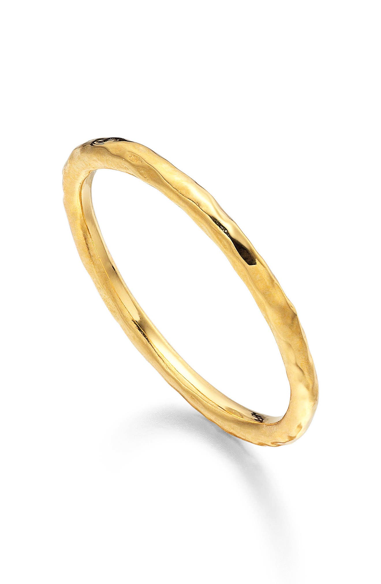 MONICA VINADER Siren Hammered Ring, Main, color, GOLD