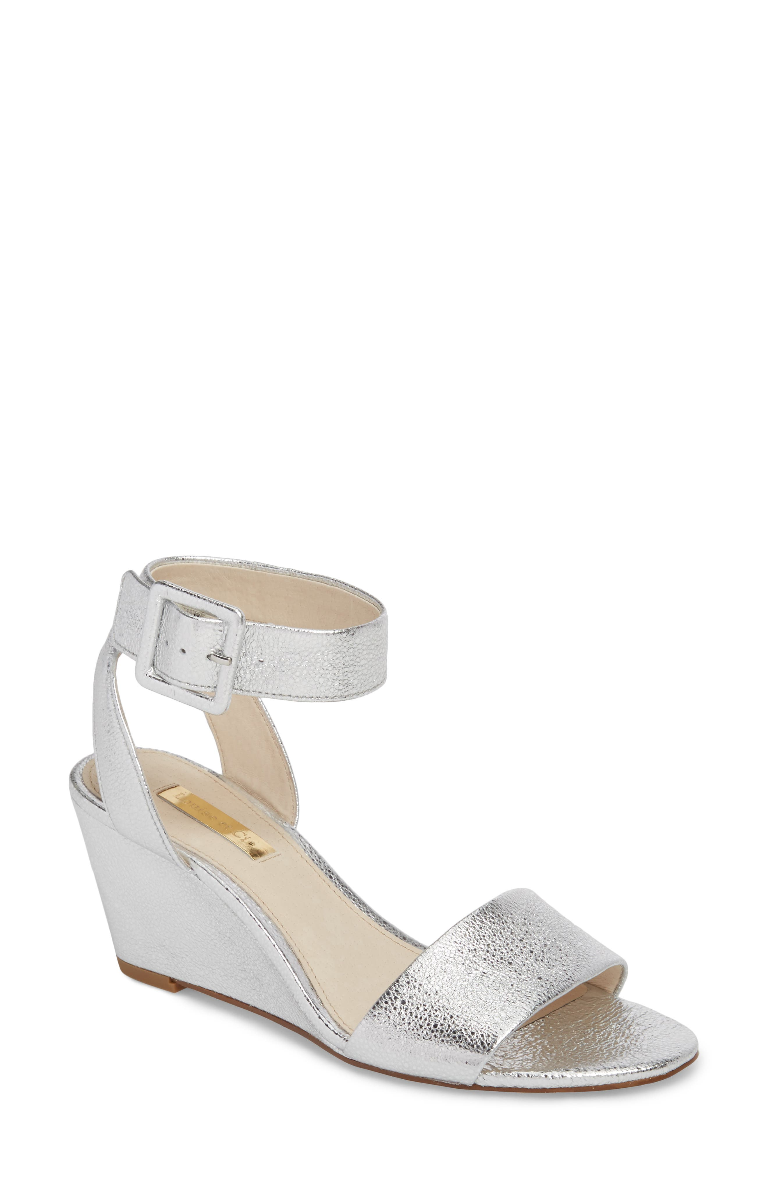 LOUISE ET CIE Punya Wedge Sandal, Main, color, STERLING LEATHER
