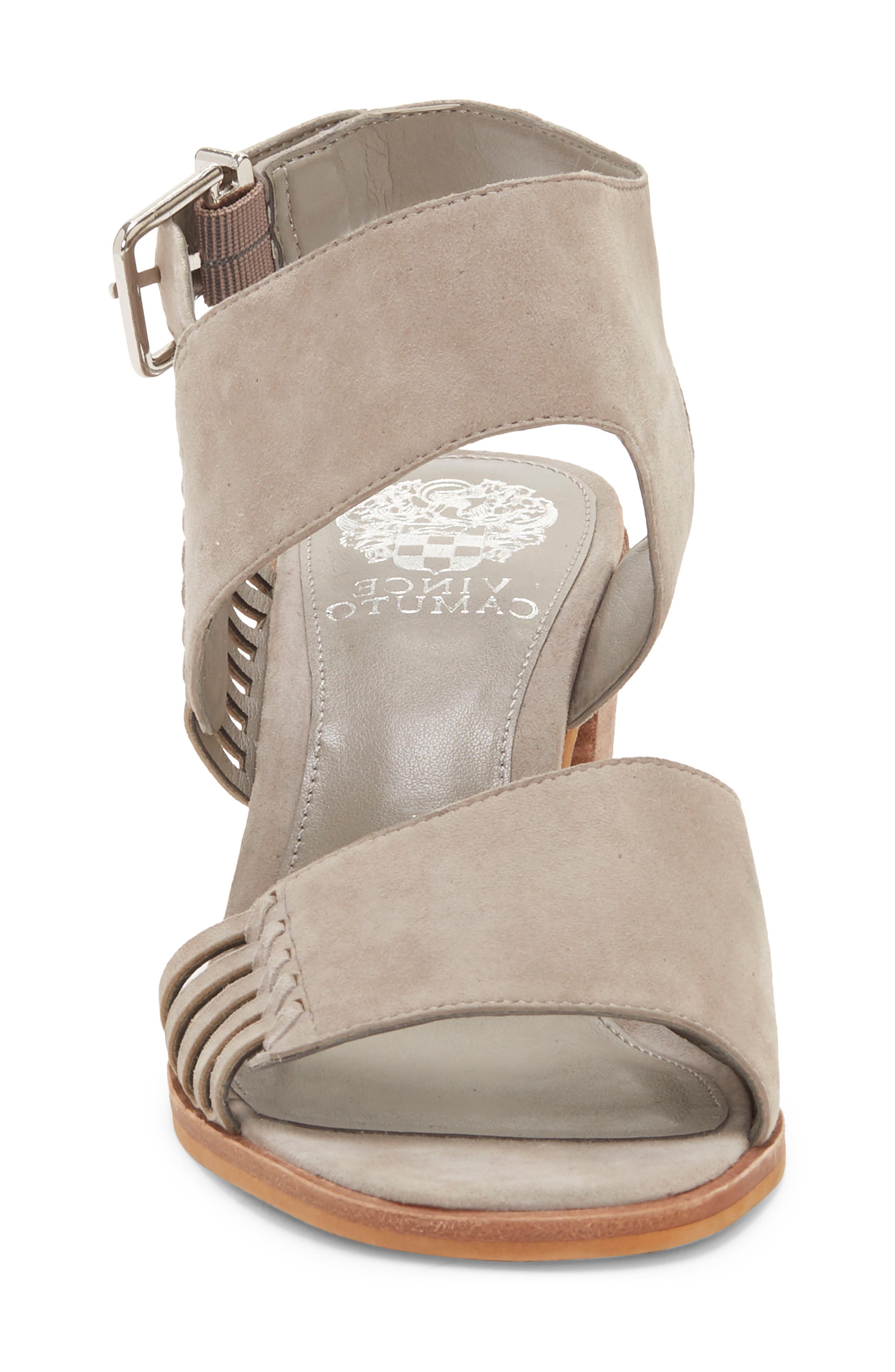 VINCE CAMUTO, Karmelo Slingback Sandal, Alternate thumbnail 4, color, STORM GREY LEATHER