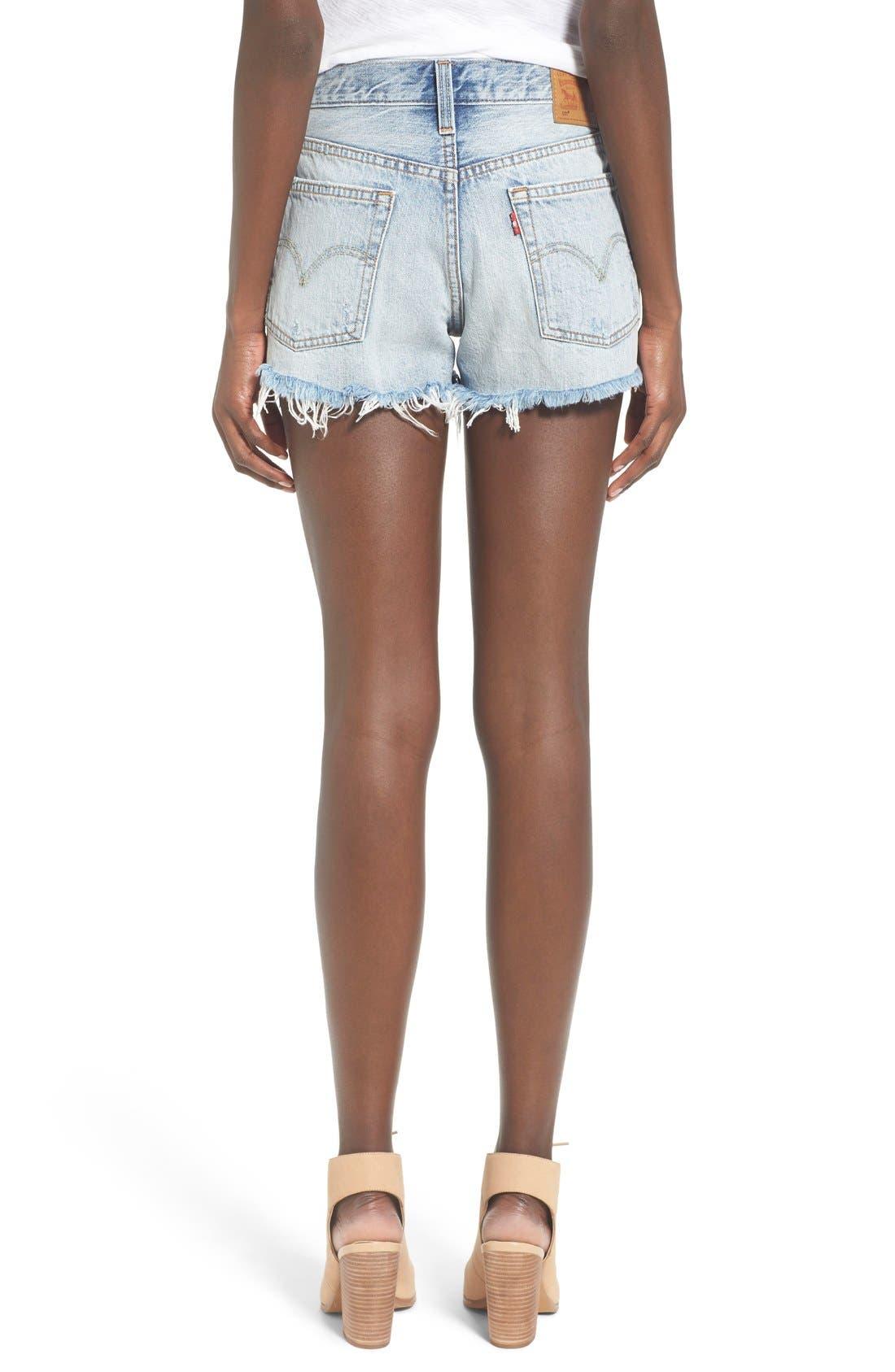 LEVI'S<SUP>®</SUP>, '501<sup>®</sup>' Cutoff Denim Shorts, Alternate thumbnail 4, color, 420