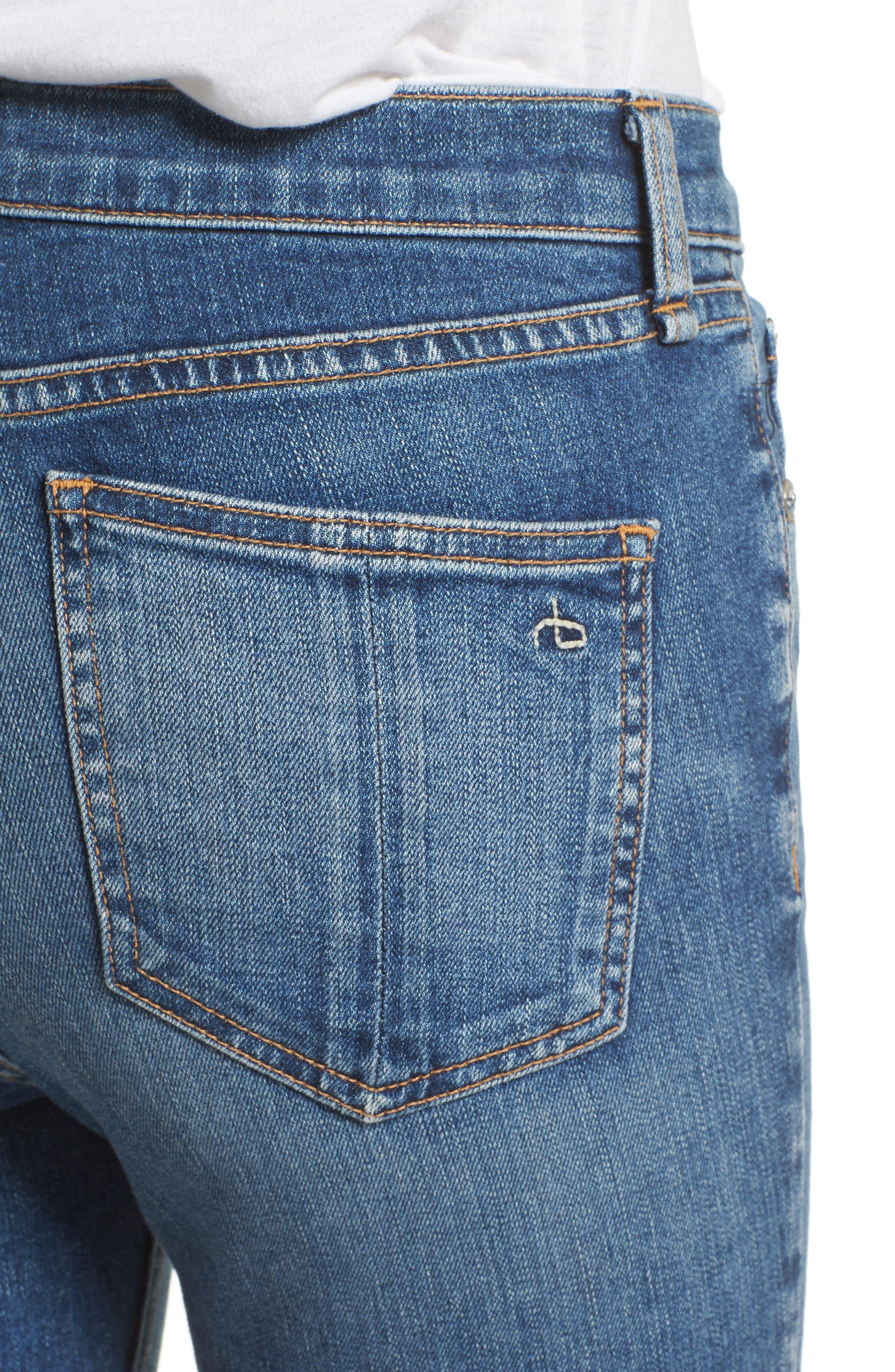 RAG & BONE, High Waist Ankle Skinny Jeans, Alternate thumbnail 4, color, 427