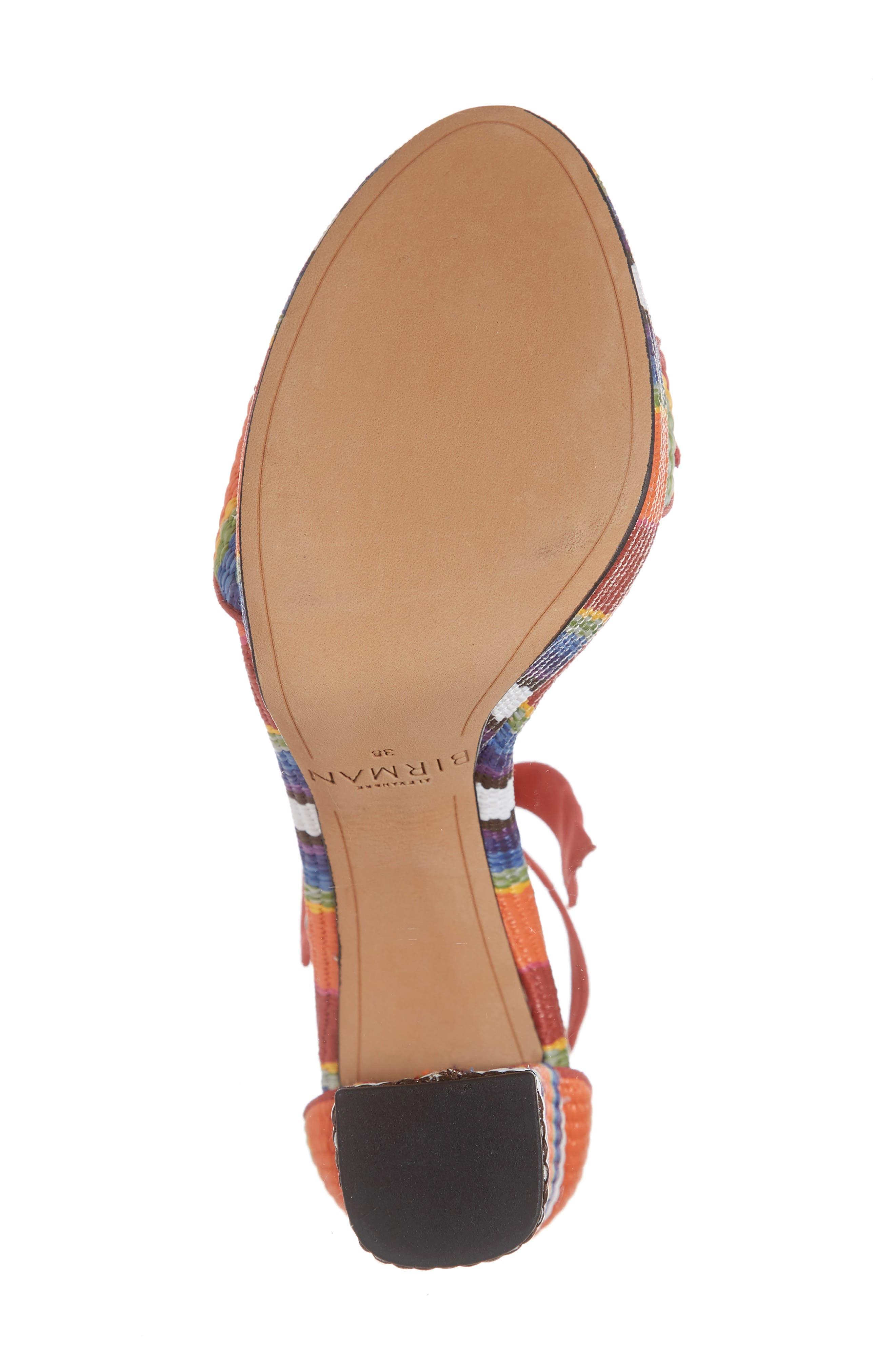 ALEXANDRE BIRMAN, Clarita Platform Sandal, Alternate thumbnail 6, color, CORAL MULTI
