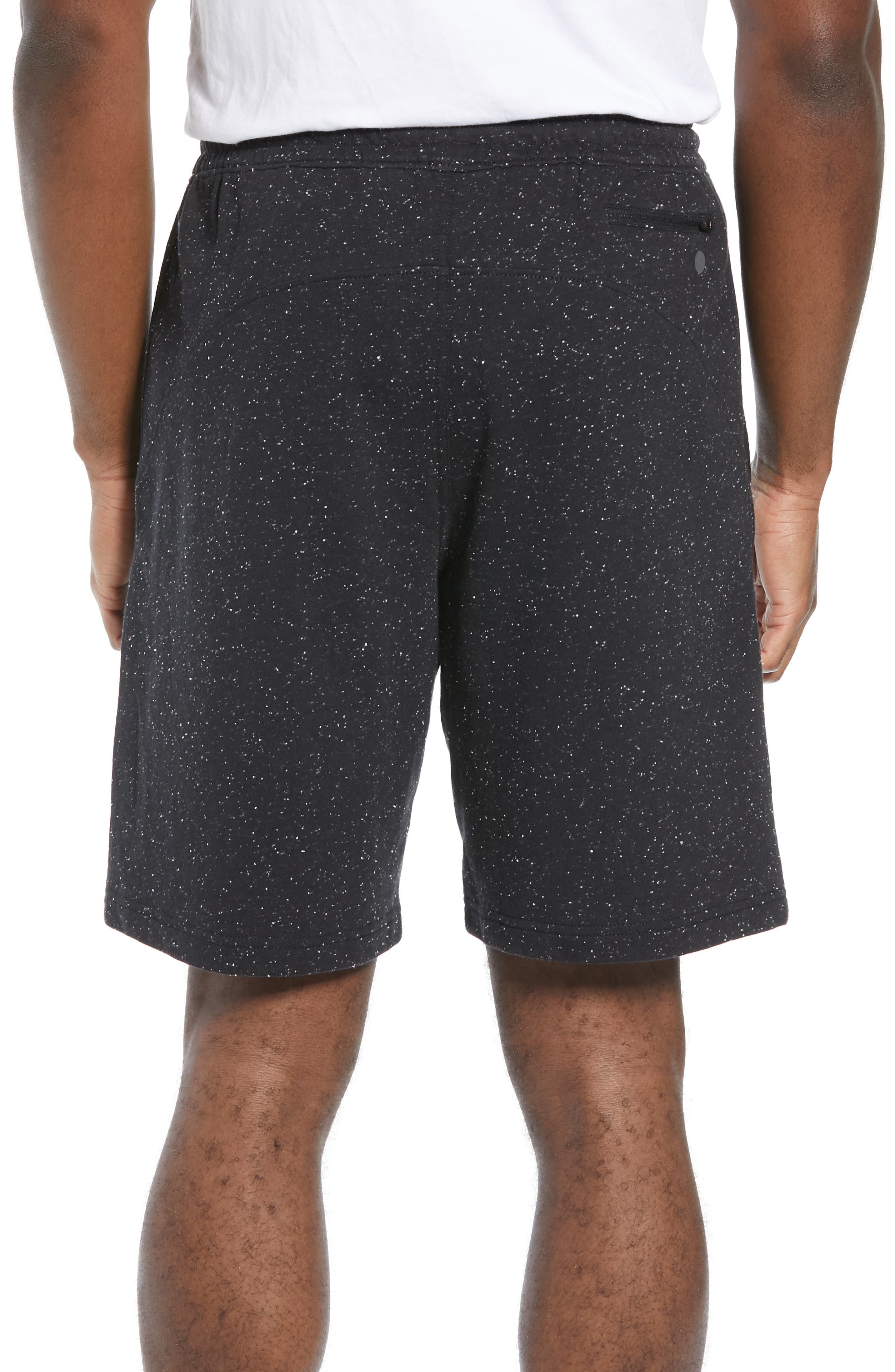 ZELLA, Neppy Fleece Athletic Shorts, Alternate thumbnail 2, color, 001