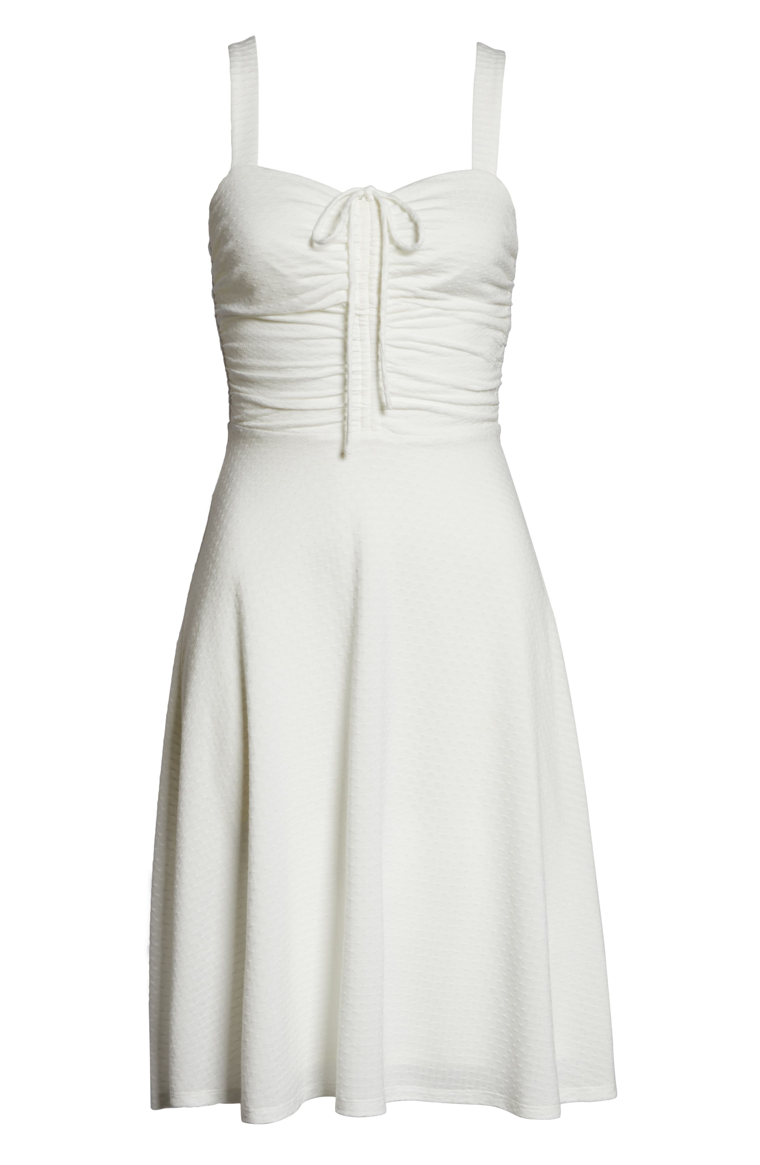ALI & JAY, Smell the Flowers Fit & Flare Dress, Alternate thumbnail 7, color, WHITE