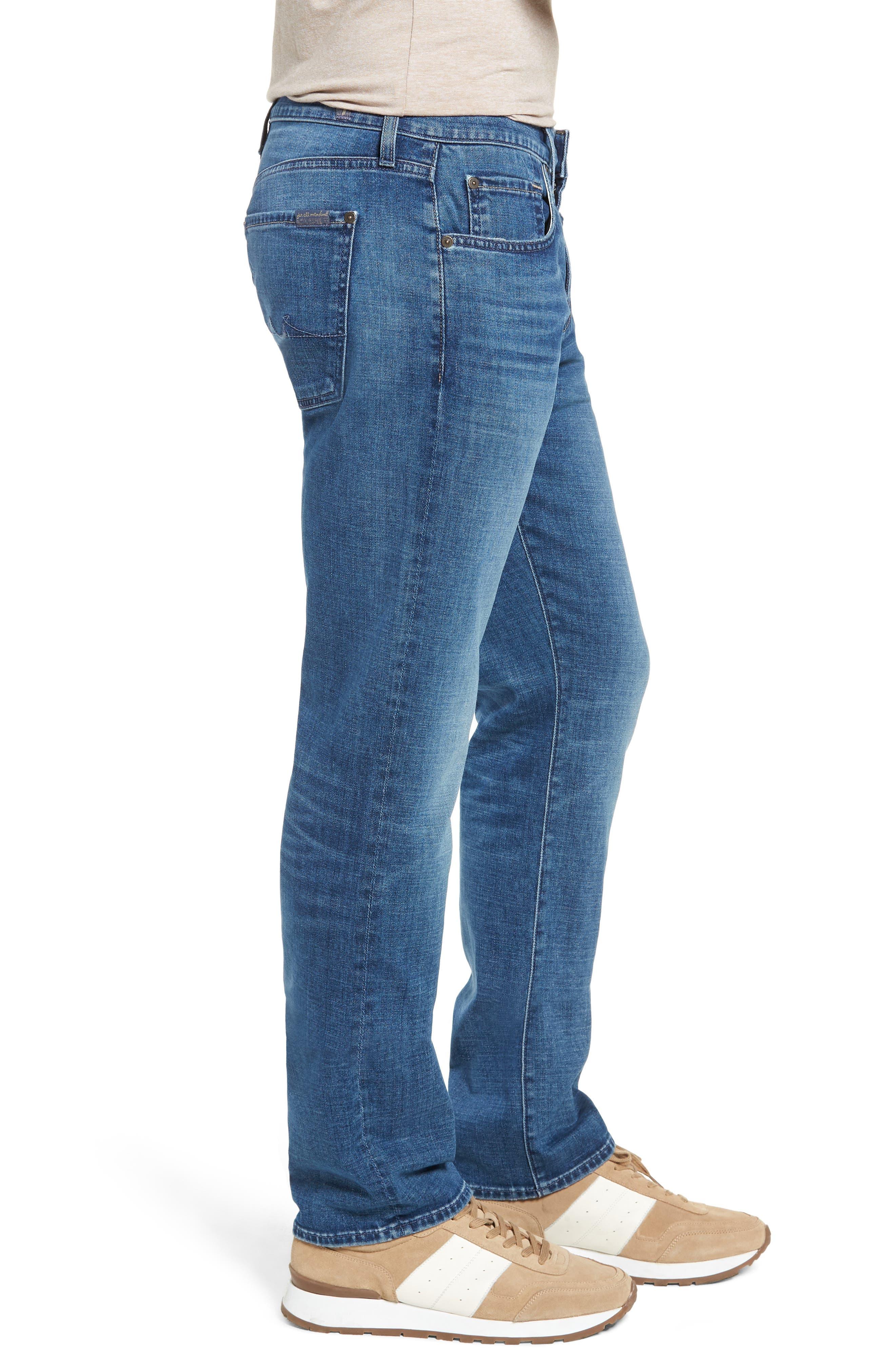 7 FOR ALL MANKIND<SUP>®</SUP>, Straight Slim Straight Leg Jeans, Alternate thumbnail 4, color, LYNNWOOD-LYNN