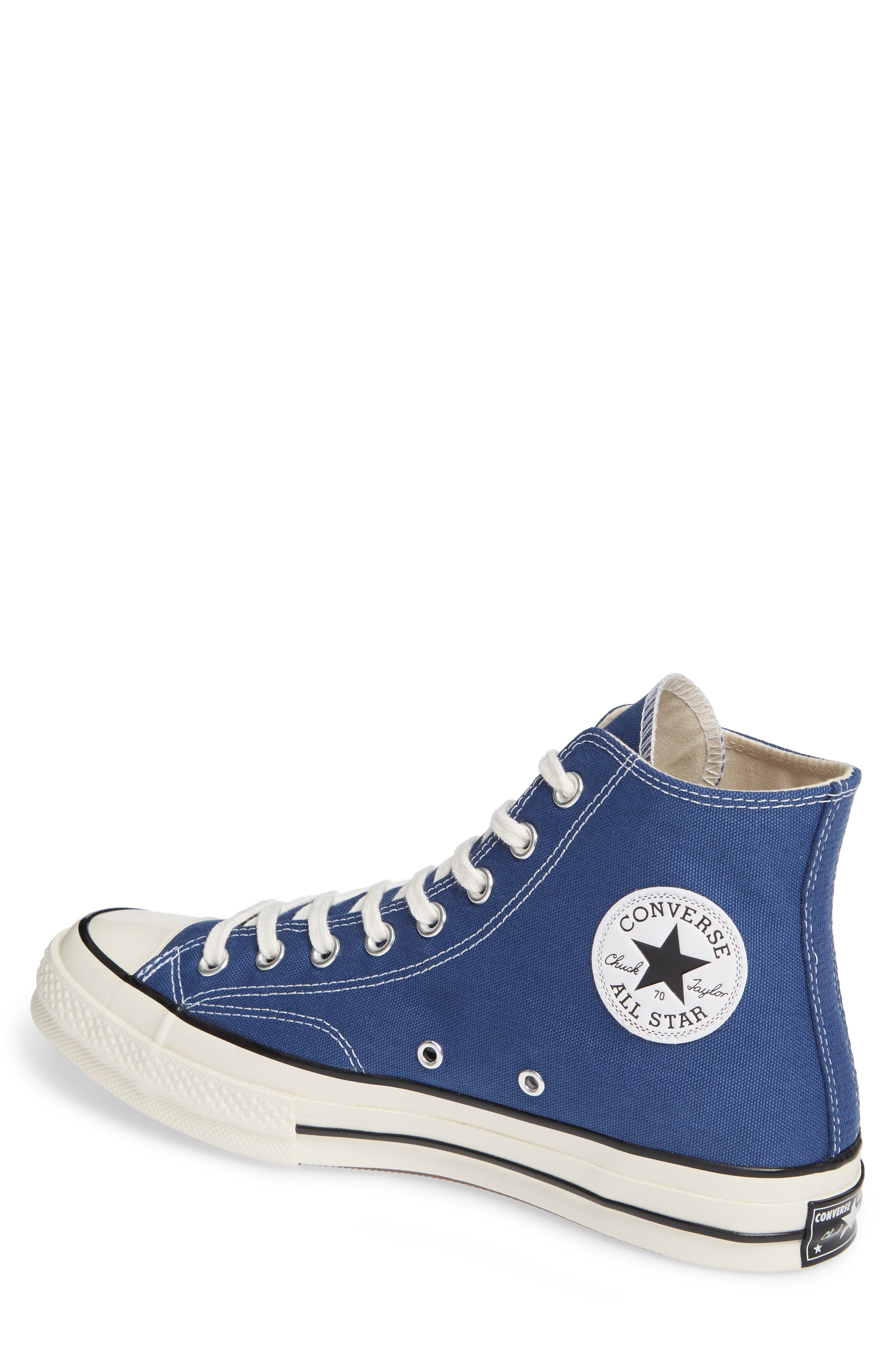 CONVERSE, Chuck Taylor<sup>®</sup> All Star<sup>®</sup> 70 Vintage High Top Sneaker, Alternate thumbnail 2, color, TRUE NAVY/ BLACK