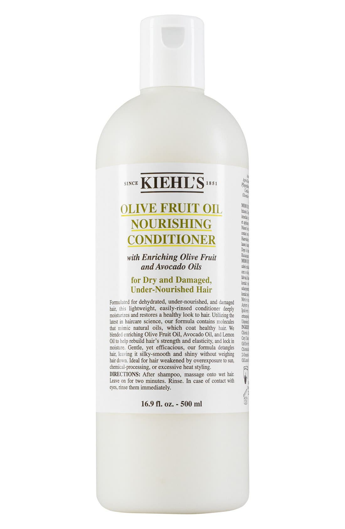 KIEHL'S SINCE 1851, Olive Fruit Oil Nourishing Conditioner, Alternate thumbnail 3, color, NO COLOR