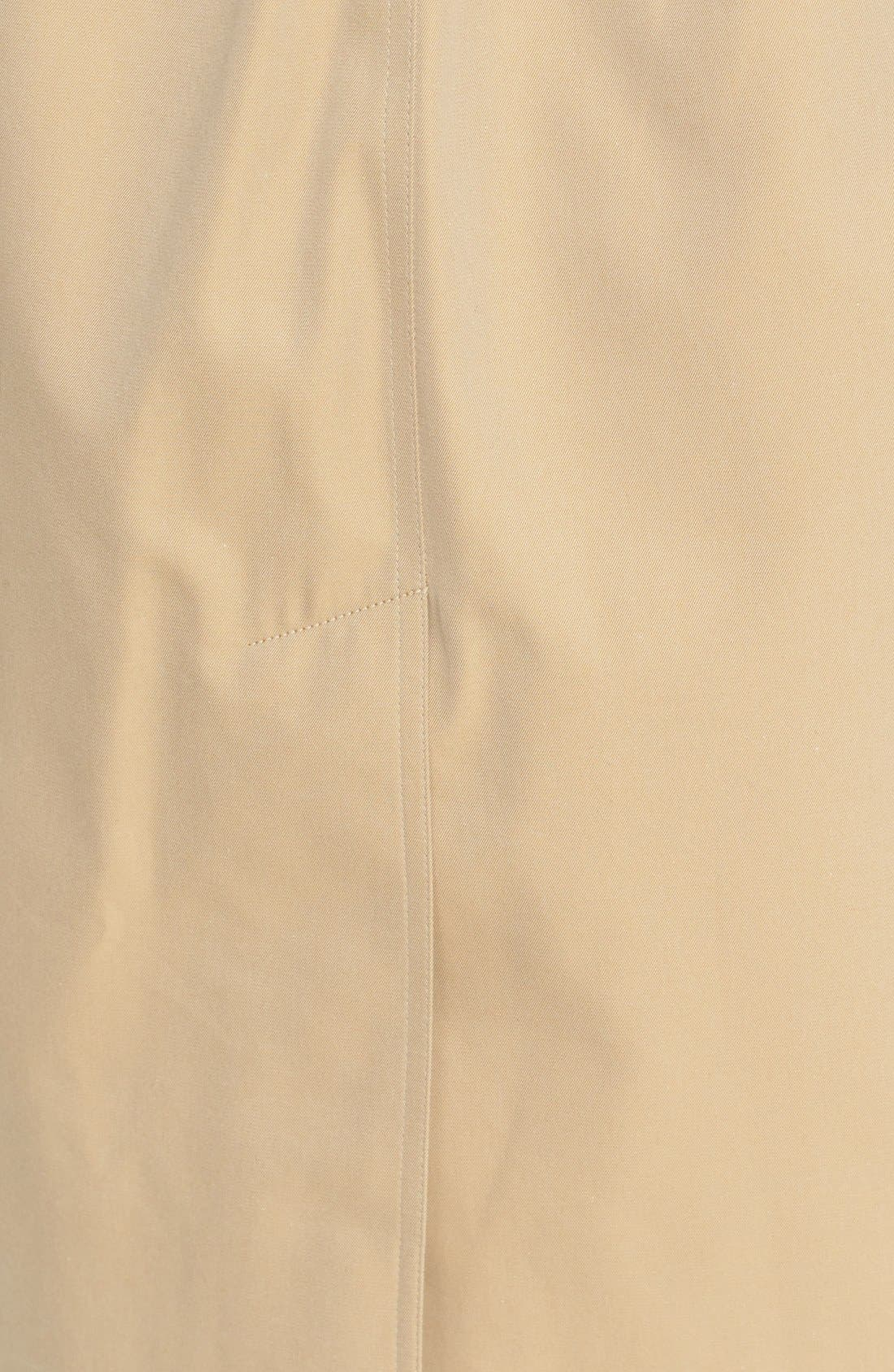 BURBERRY, Kensington Long Trench Coat, Alternate thumbnail 4, color, HONEY