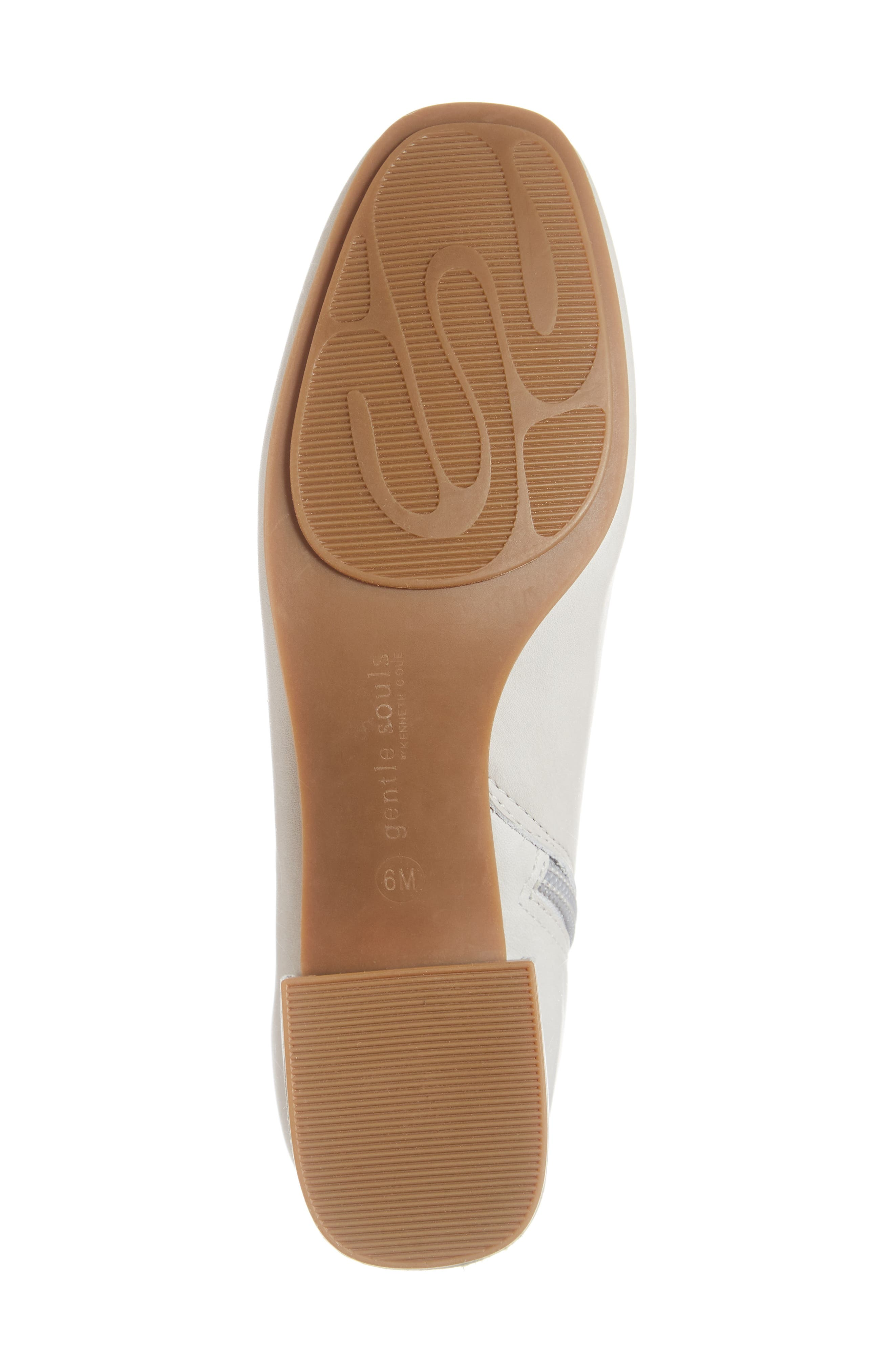 GENTLE SOULS BY KENNETH COLE, Ella Bootie, Alternate thumbnail 6, color, LIGHT GREY LEATHER