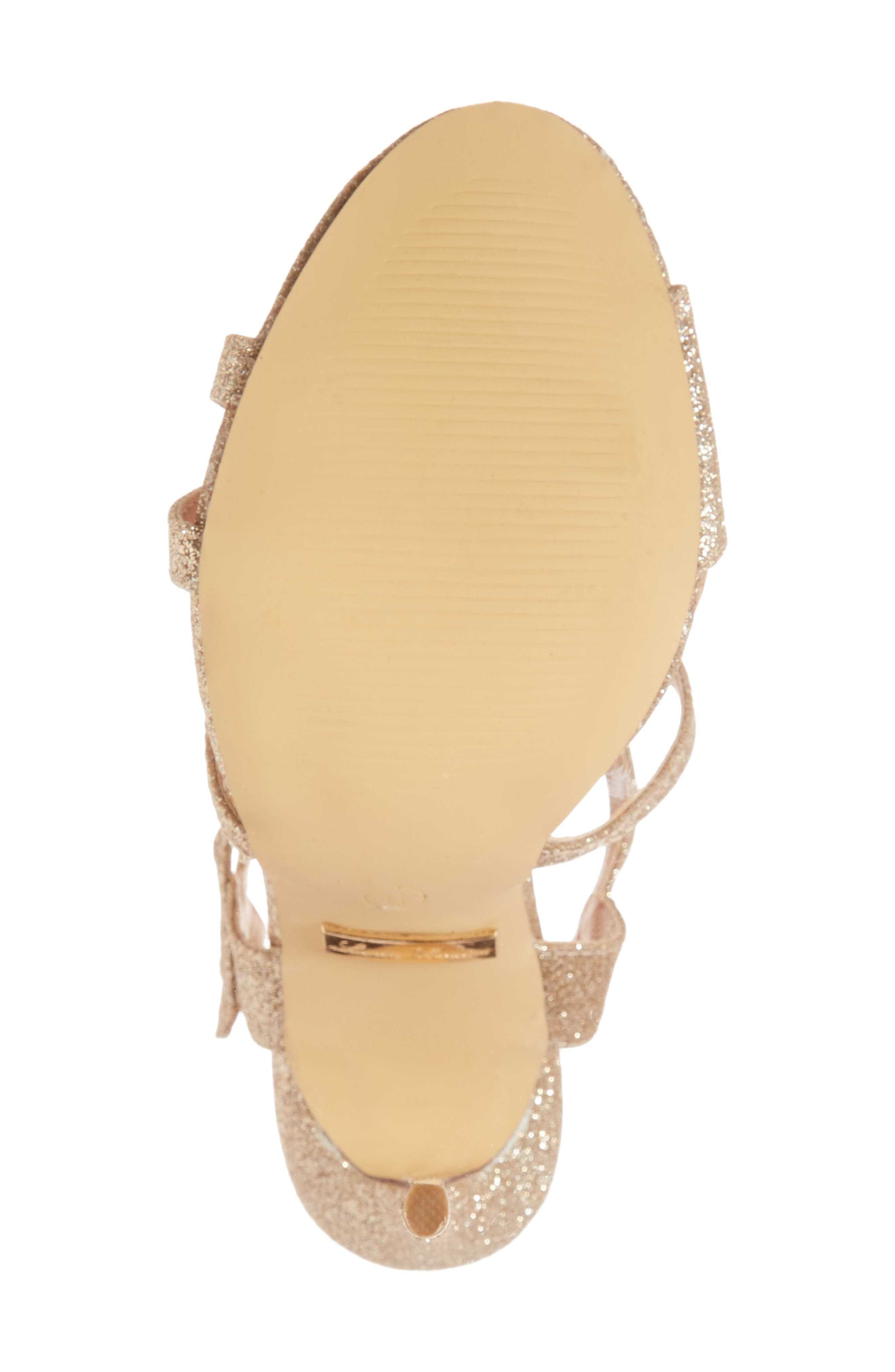 LAUREN LORRAINE, Gidget Sandal, Alternate thumbnail 6, color, NUDE FABRIC