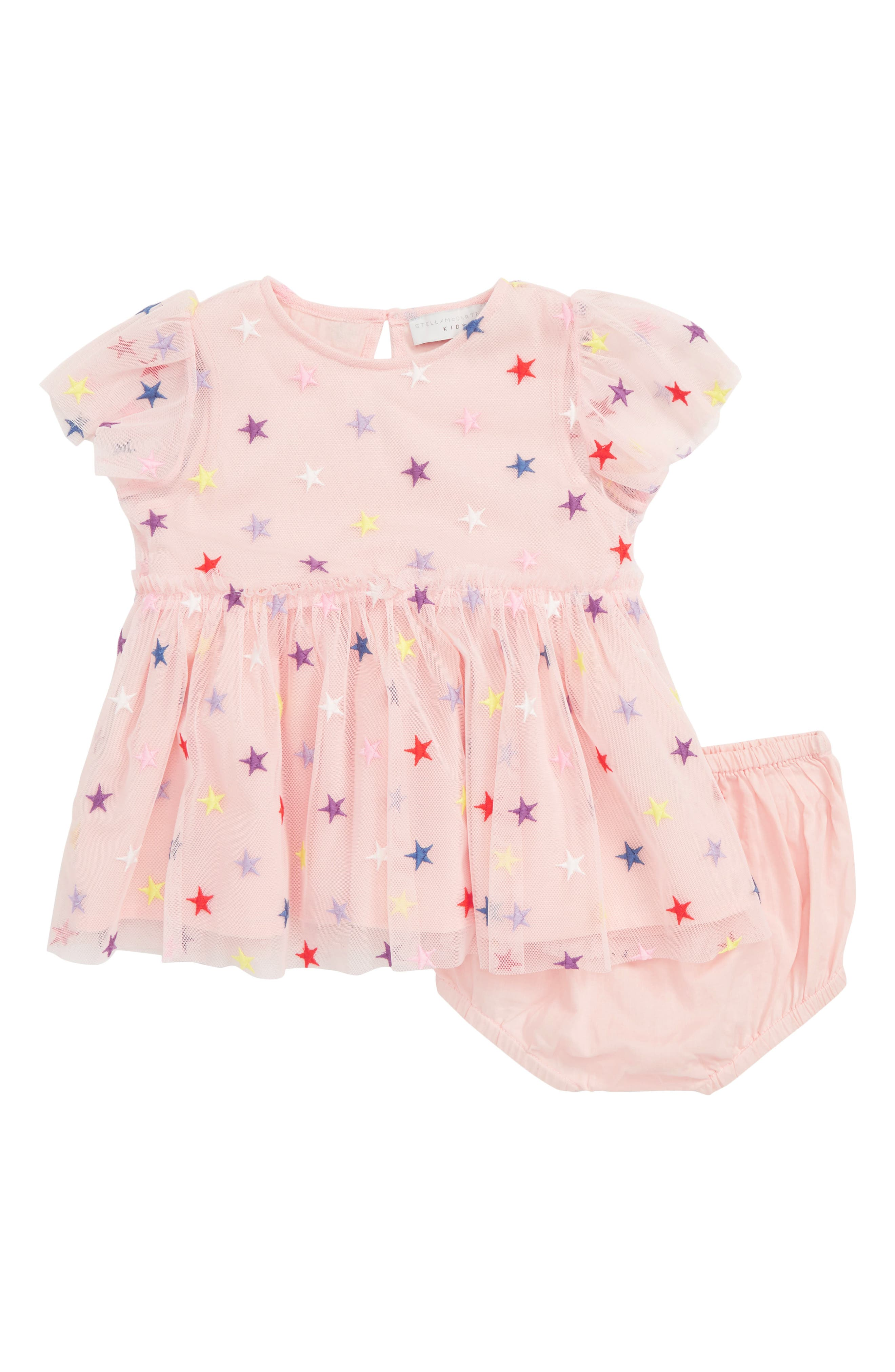 STELLA MCCARTNEY KIDS, Stars Tulle Dress, Main thumbnail 1, color, 6842 PINK